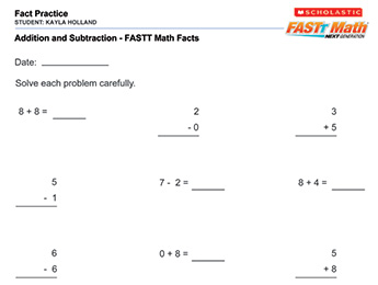 Printables Fast Math Worksheets printables fast math worksheets safarmediapps teach facts software games for struggling students worksheets
