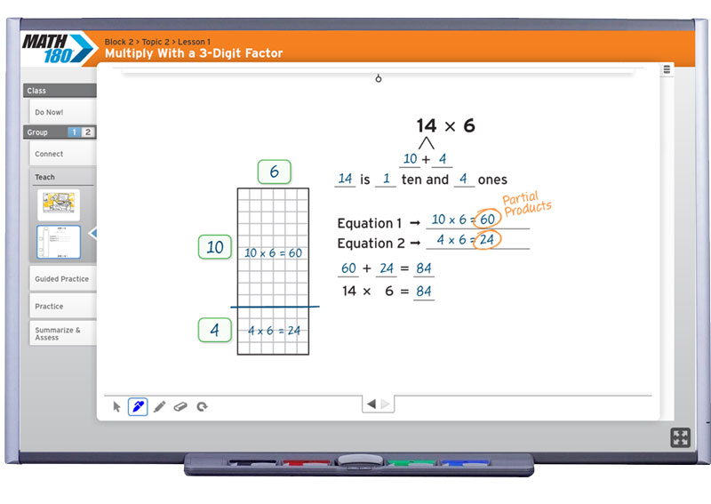 Program Components for Student and Teacher | MATH 180