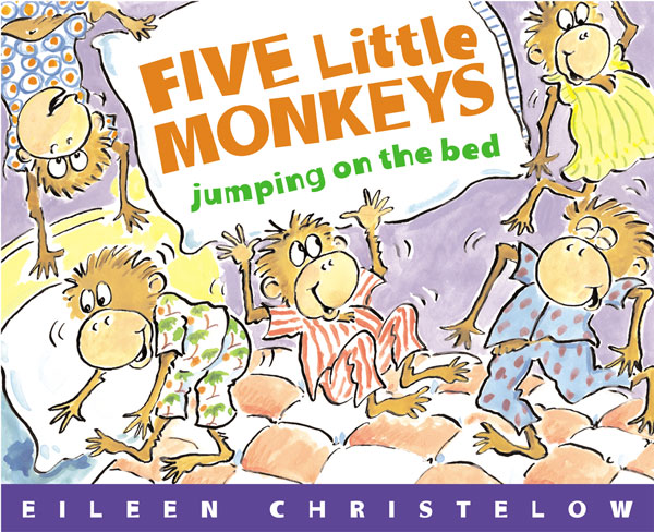 Five Little Monkeys Jumping on the Bed-9780395557013