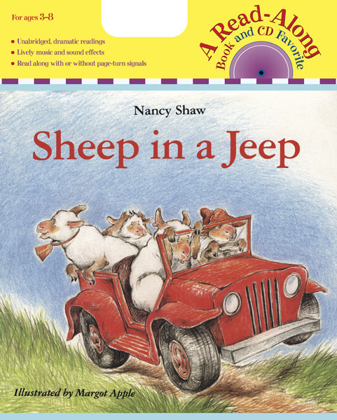 Sheep in a Jeep Book & CD-9780618695225
