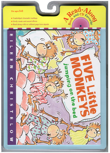 Five Little Monkeys Jumping on the Bed Book & CD-9780618732760