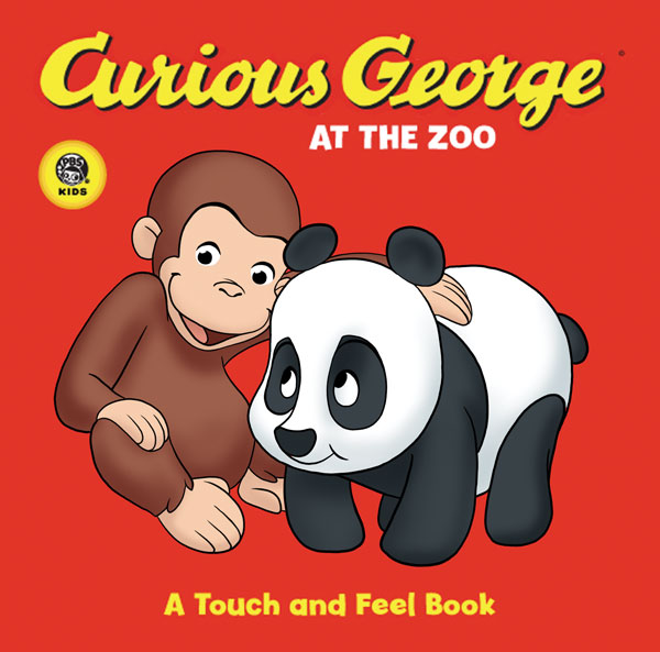 Curious George at the Zoo (CGTV Touch-and-Feel Board Book)-9780618800421