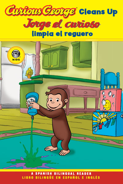 Curious George Cleans Up/Jorge el Curioso limpia el reguero Spanish/English Bilingual Edition (CGTV Reader)-9780618896875