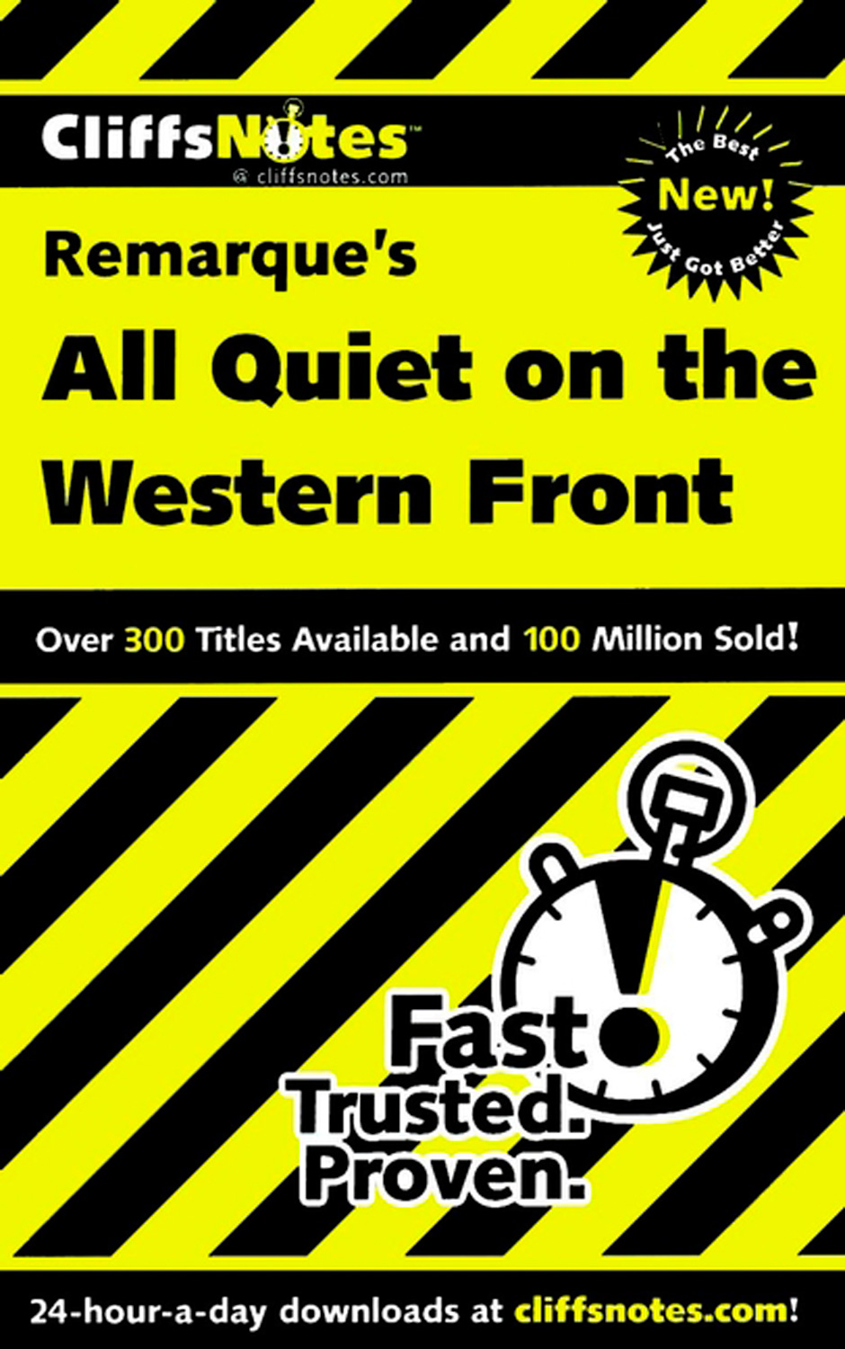 CliffsNotes on Remarque's All Quiet on the Western Front-9780764586712