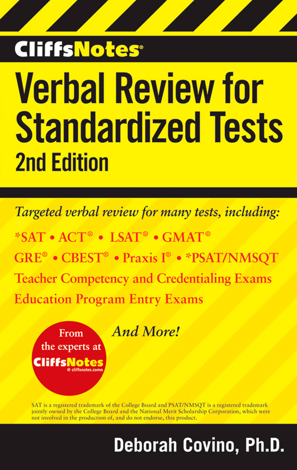 CliffsNotes Verbal Review for Standardized Tests, 2nd Edition-9781118334256