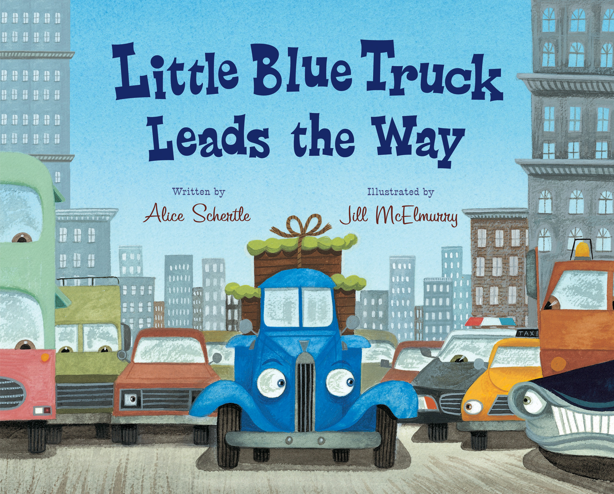 Little Blue Truck Leads the Way-9780152063894