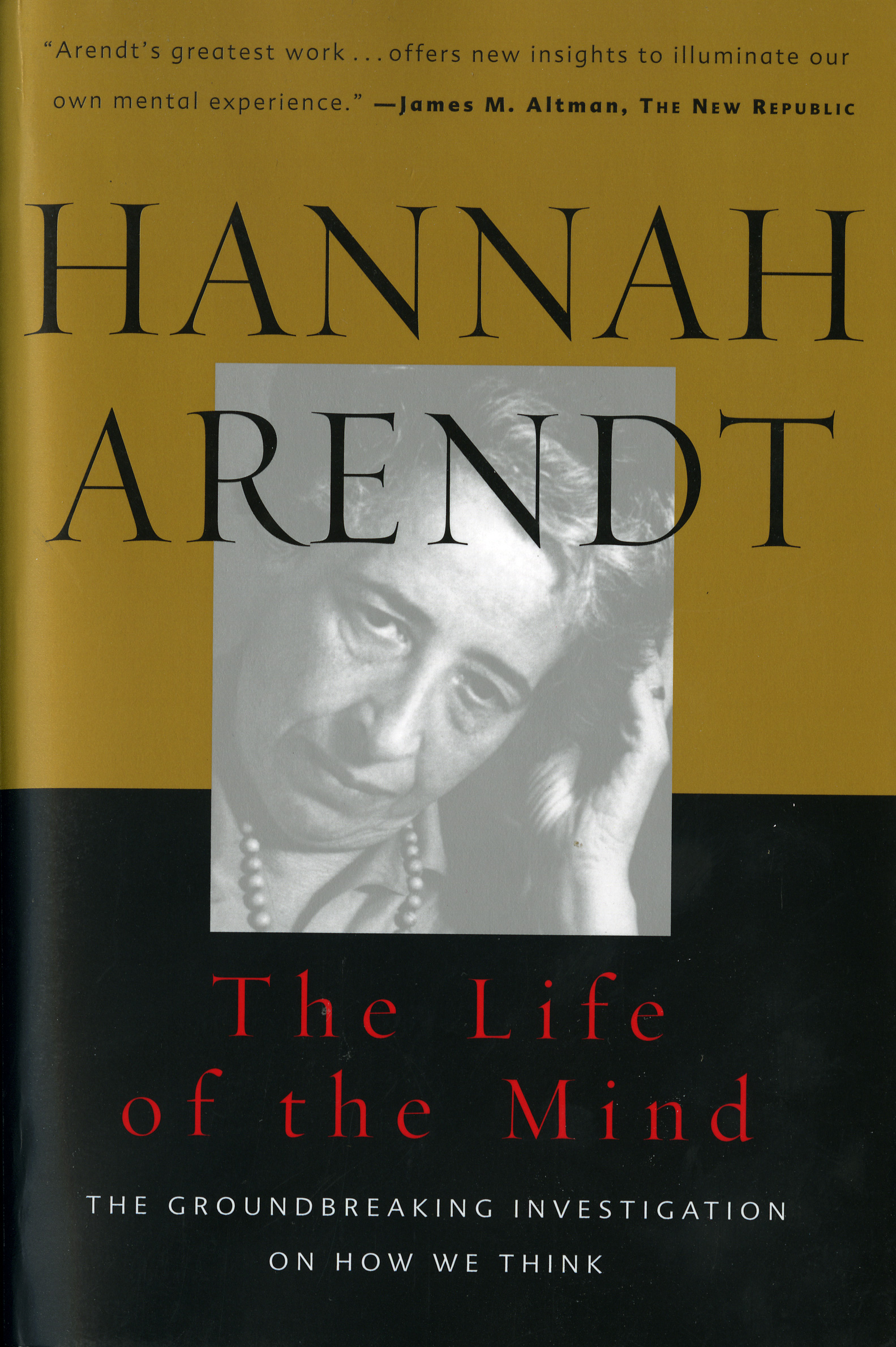 The Life of the Mind-9780156519922