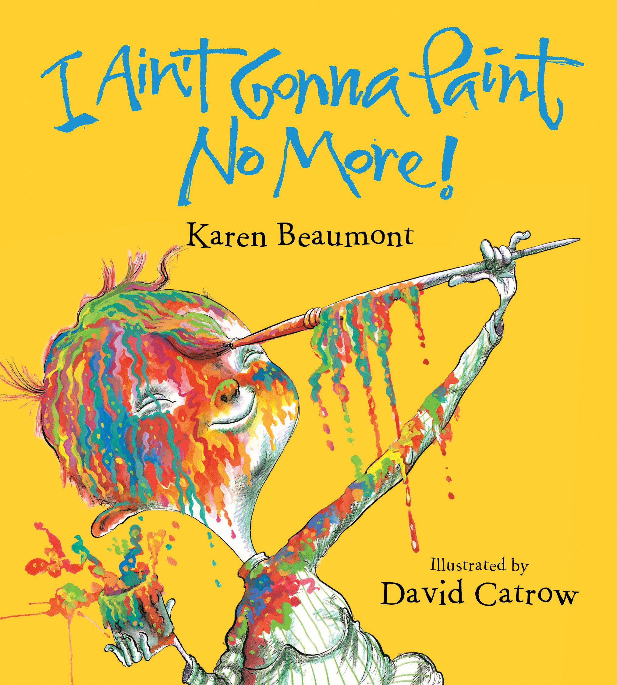 I Ain't Gonna Paint No More! (board book)-9780358004158