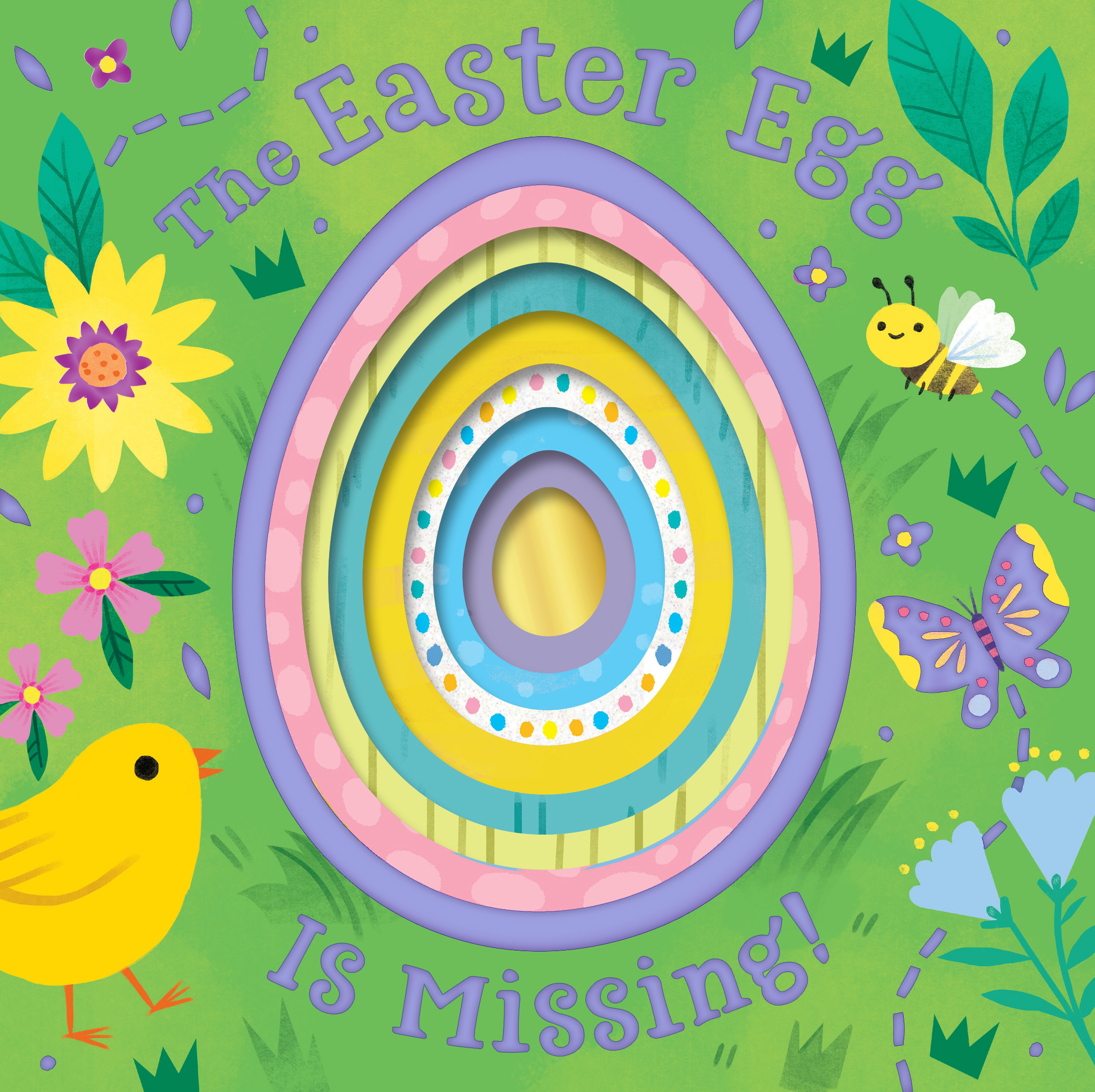 The Easter Egg Is Missing! (board book with cut-out reveals)-9780358192657