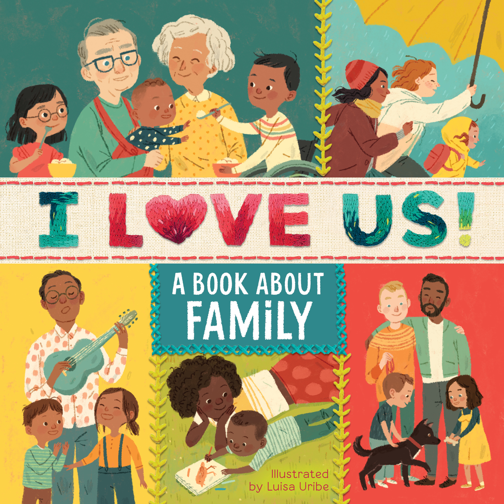 I Love Us: A Book About Family (with mirror and fill-in family tree)-9780358193302