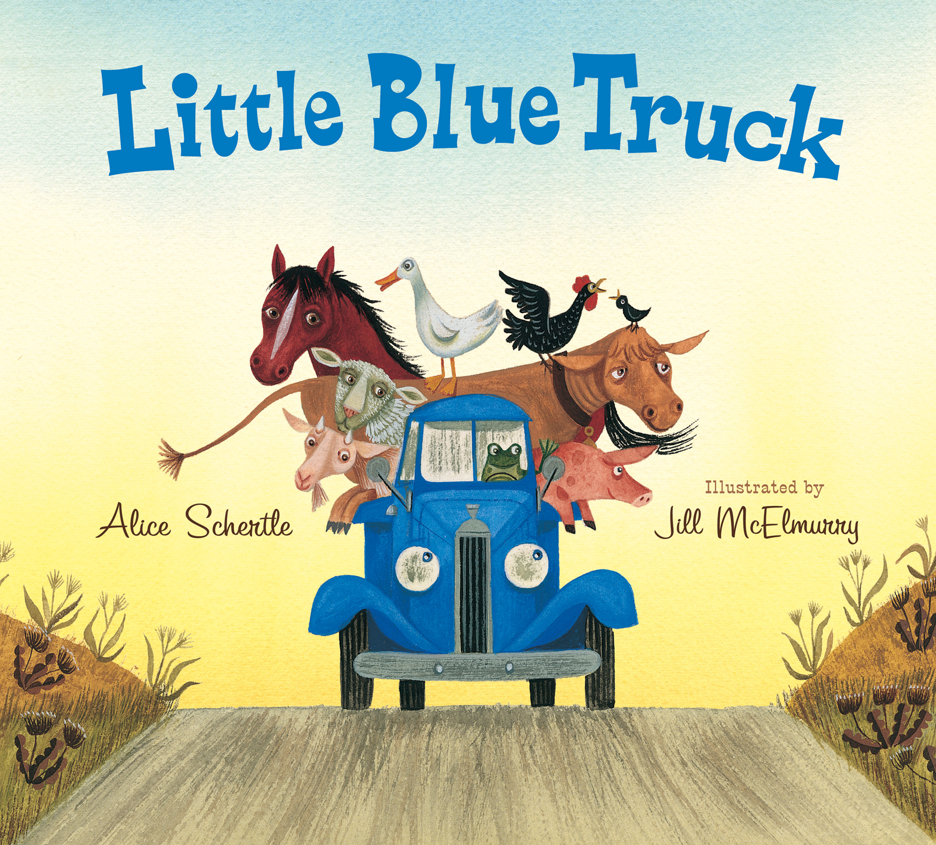Little Blue Truck Lap Board Book-9780544056855