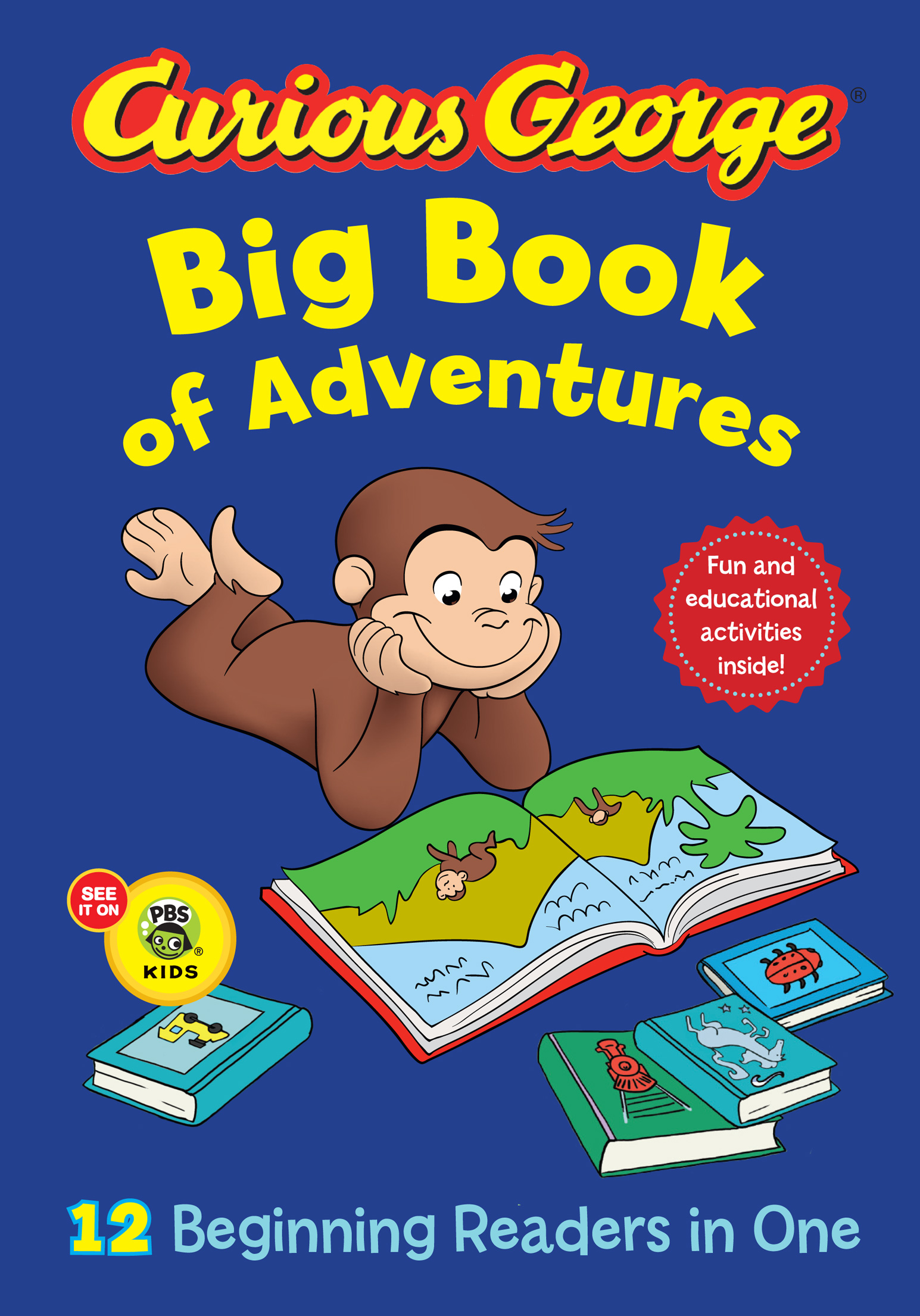 Curious George Big Book of Adventures (CGTV)-9780544084636