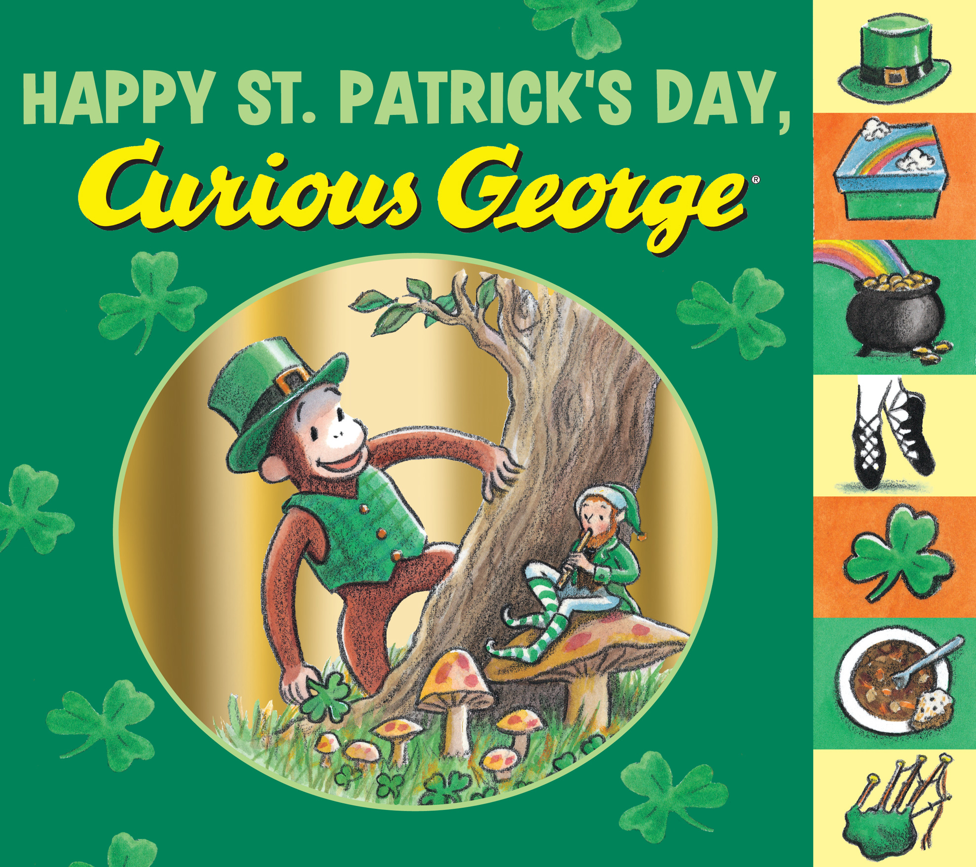 Happy St. Patrick's Day, Curious George tabbed board book-9780544088887
