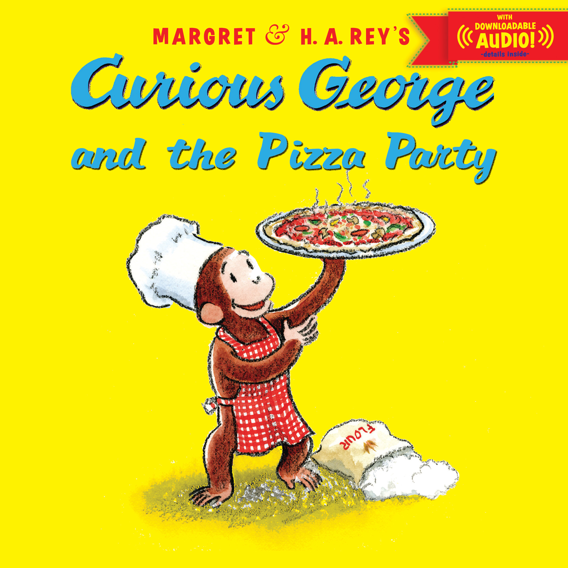 Curious George and the Pizza Party with downloadable audio-9780544109889
