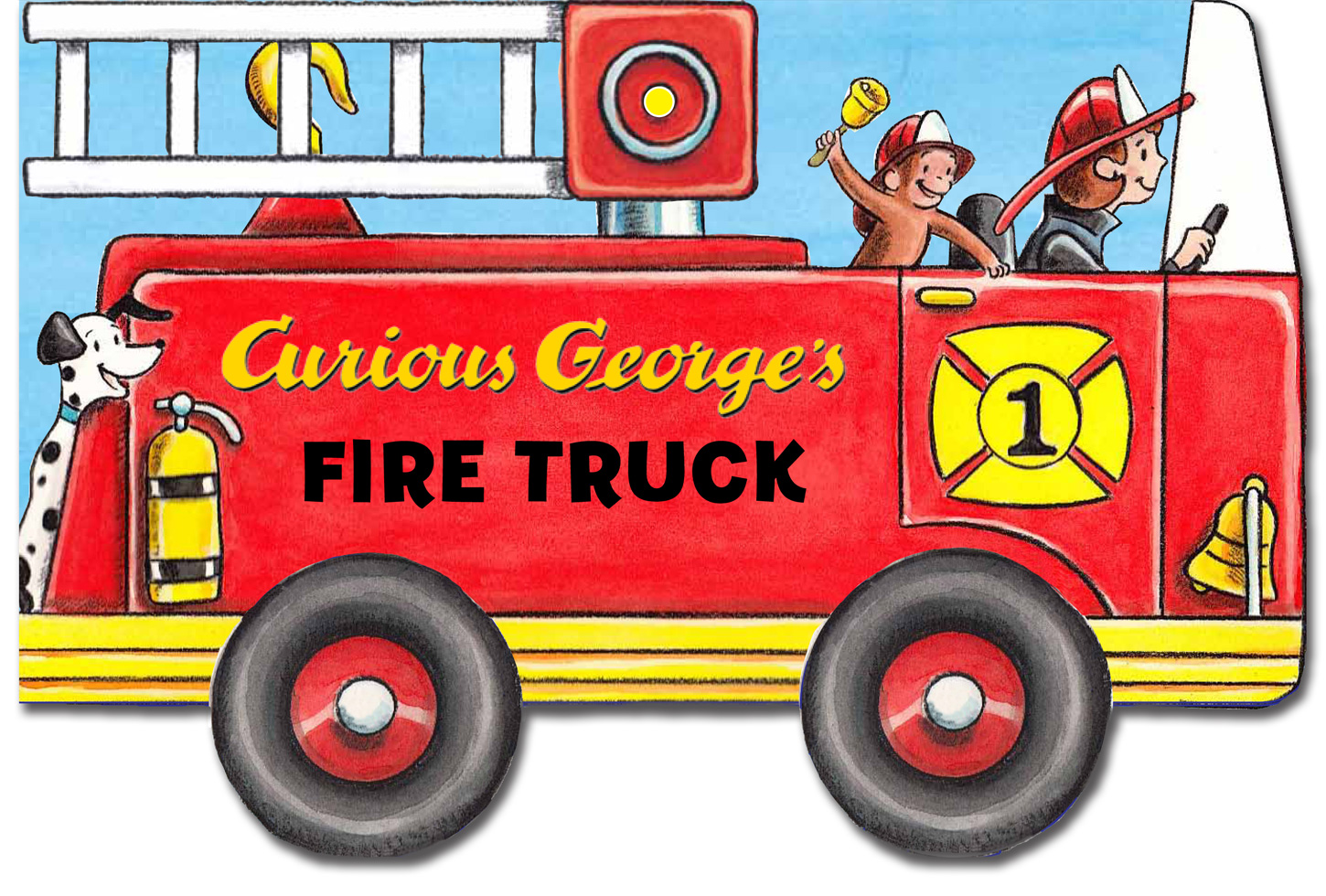 Curious George's Fire Truck (mini movers shaped board books)-9780544147096