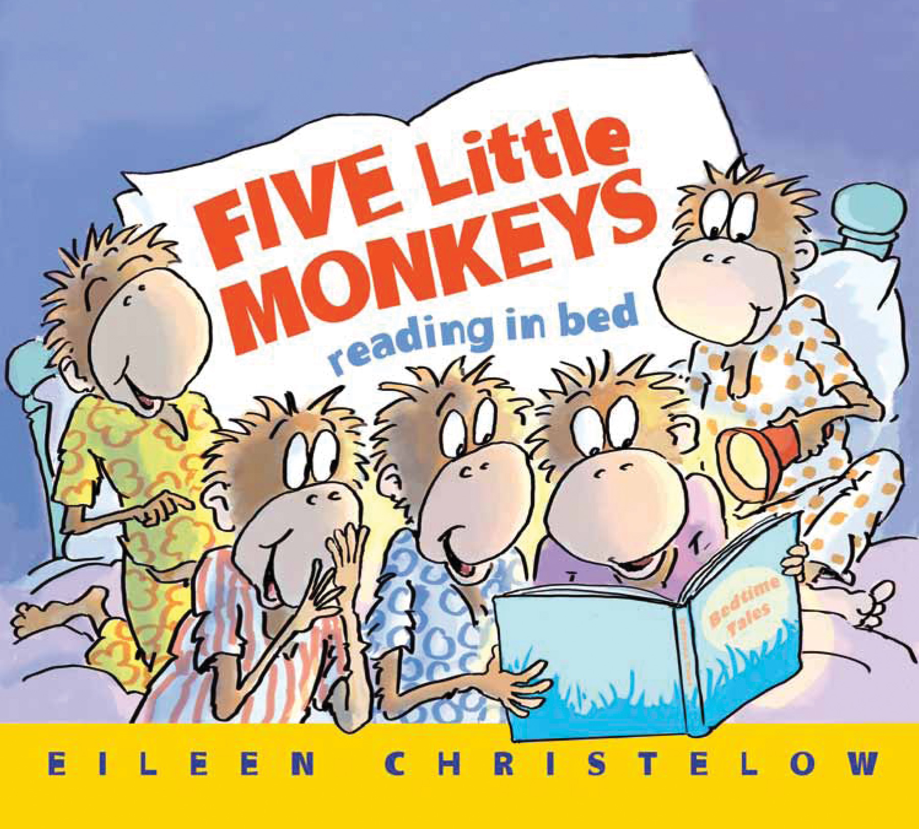 Five Little Monkeys Reading in Bed-9780544173309