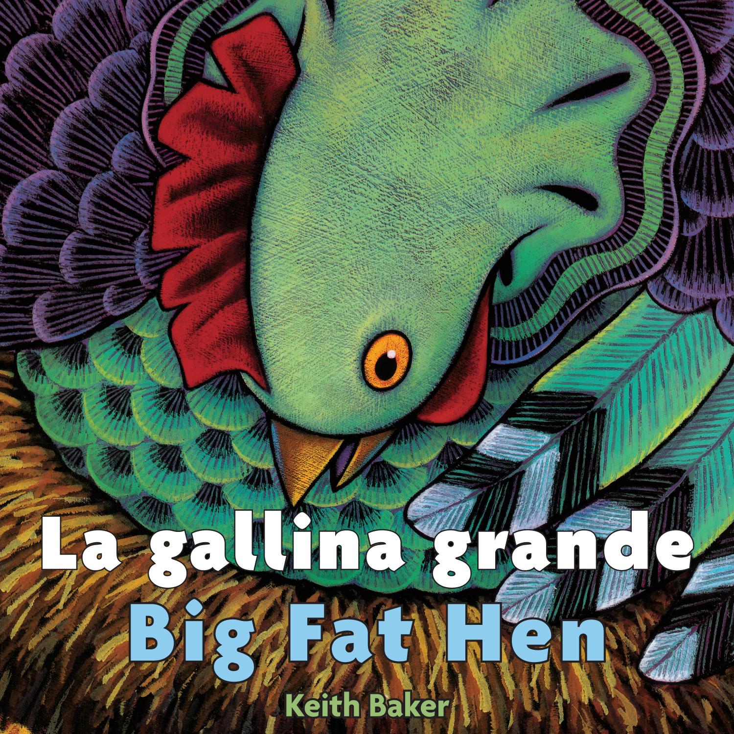 La gallina grande/Big Fat Hen bilingual board book-9780544173989