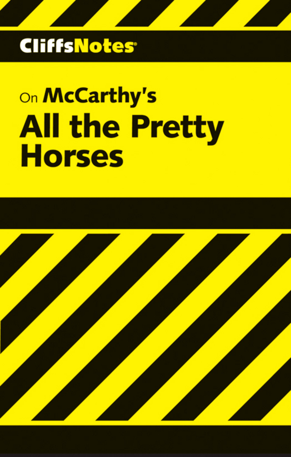 CliffsNotes on McCarthy's All the Pretty Horses-9780544179448