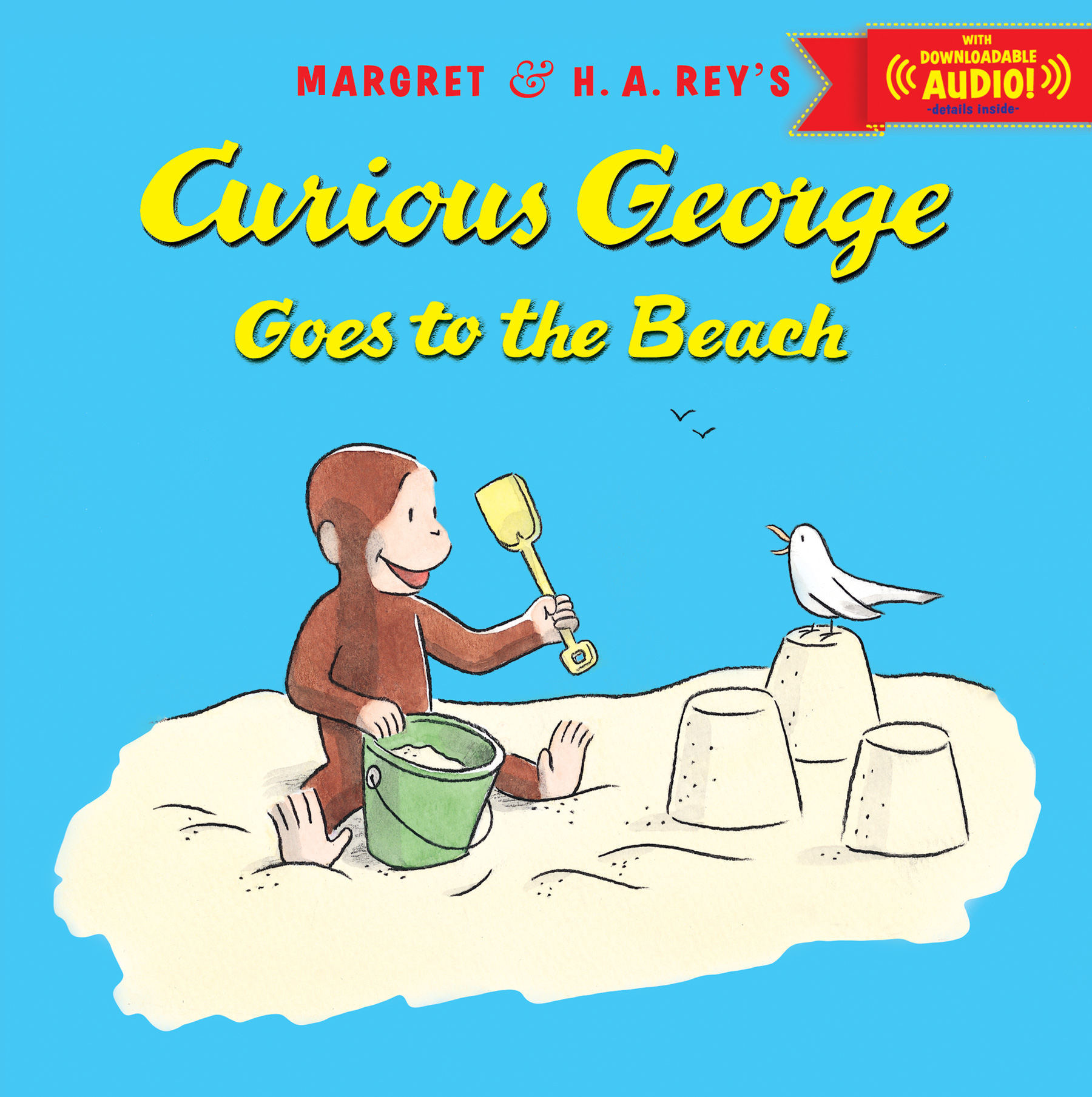 Curious George Goes to the Beach with downloadable audio-9780544250017