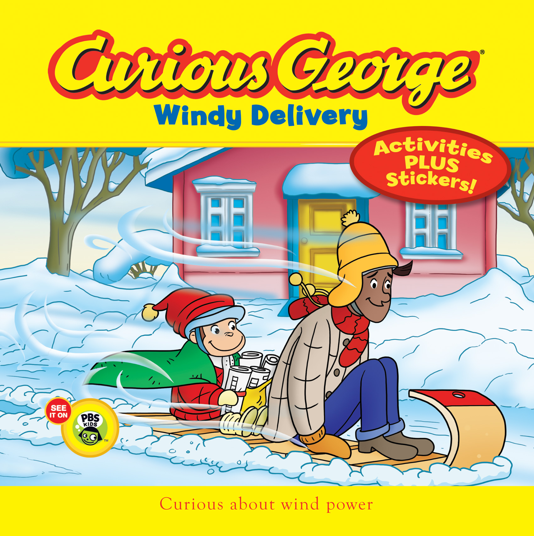 Curious George Windy Delivery (CGTV 8x8 w/stickers)-9780544320765