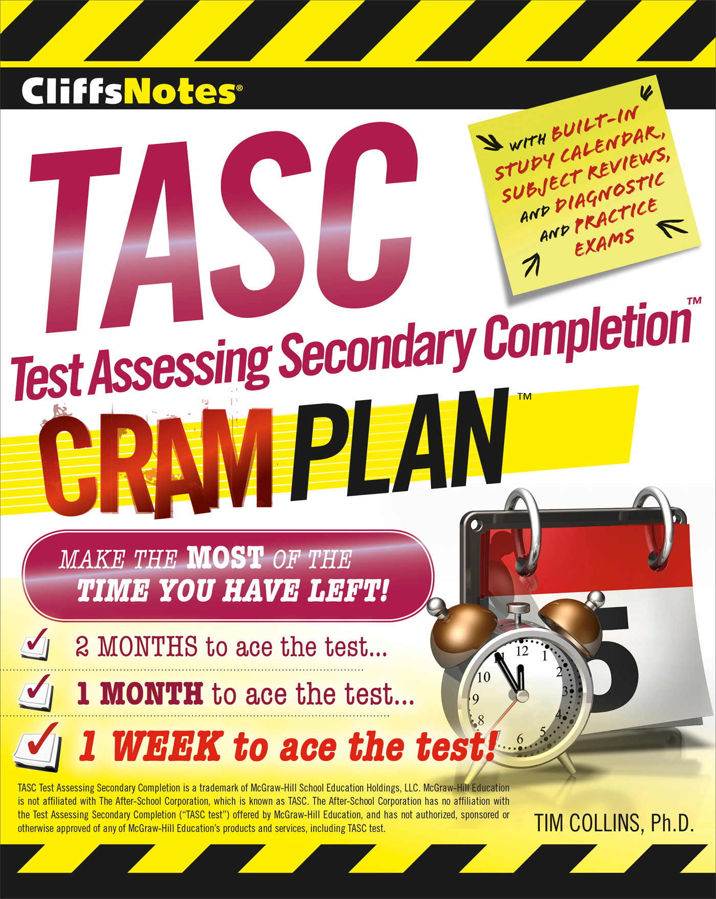 CliffsNotes TASC Test Assessing Secondary Completion™ Cram Plan-9780544373310