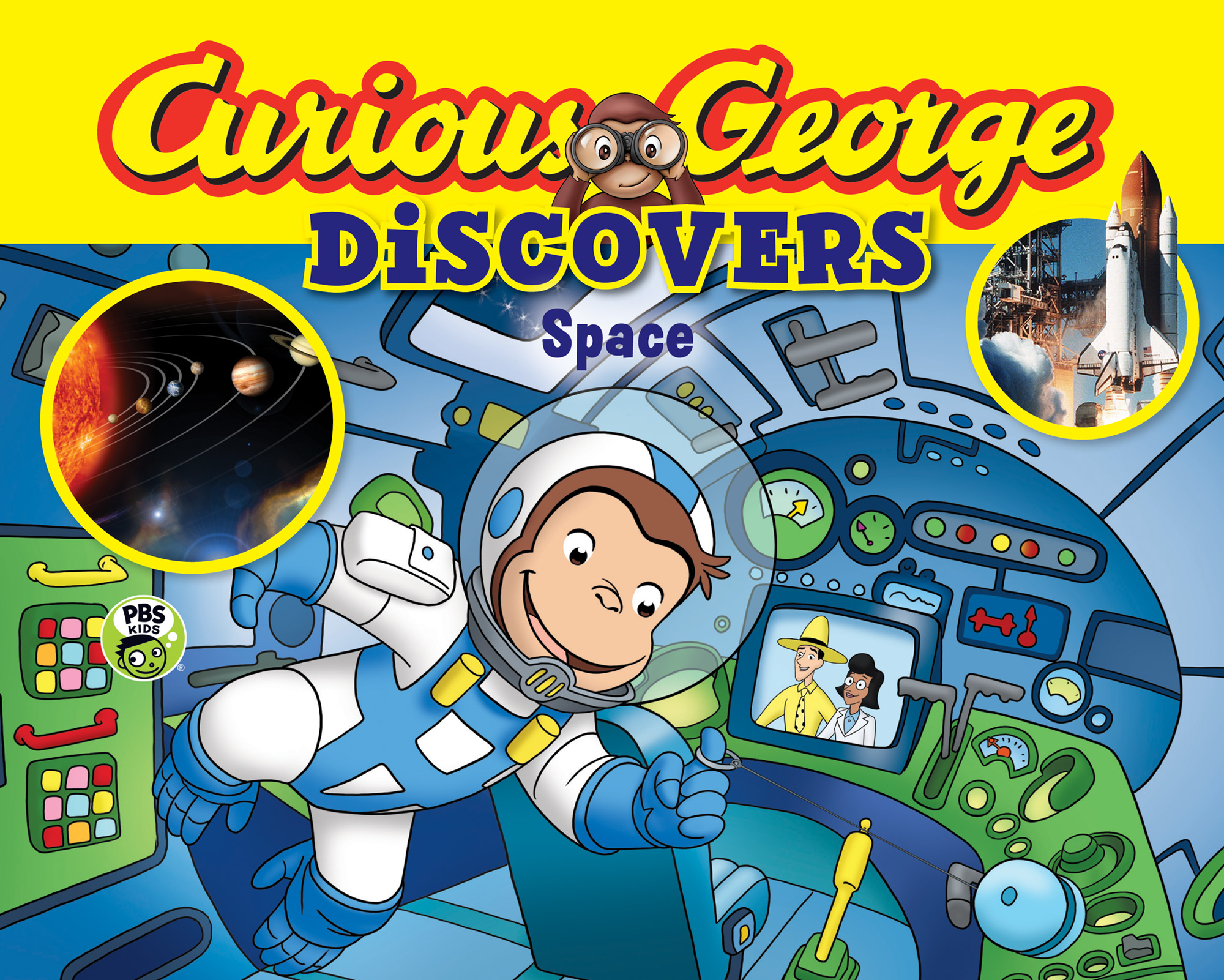 Curious George Discovers Space (science storybook)-9780544500280