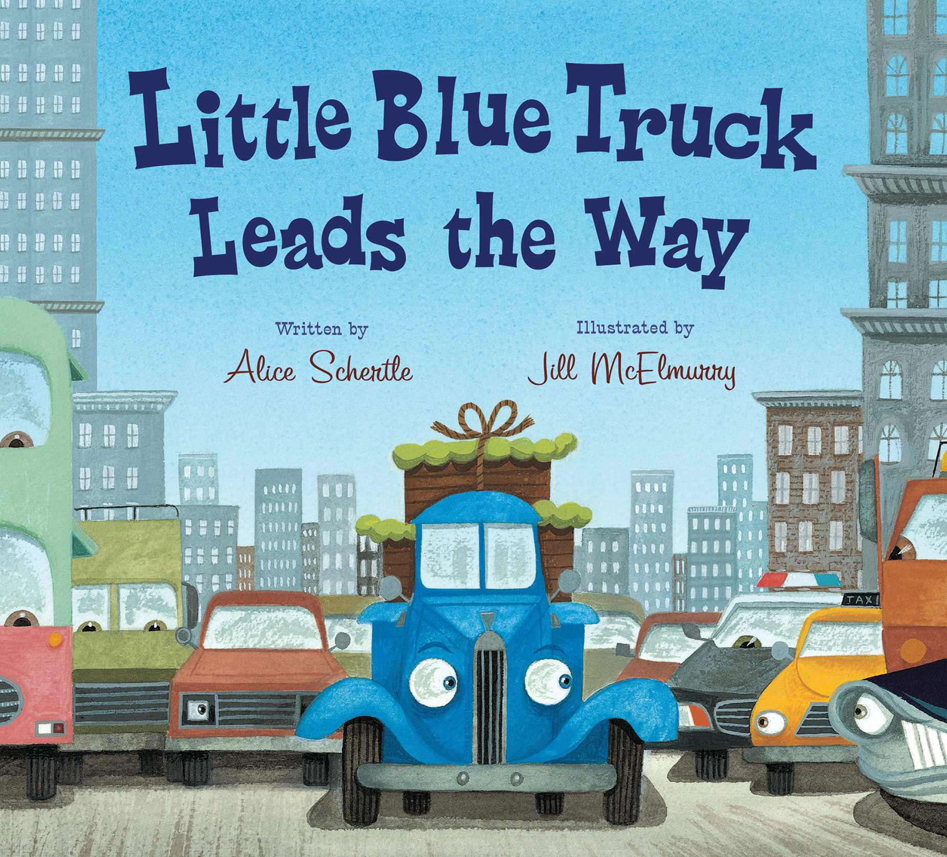 Little Blue Truck Leads the Way board book-9780544568051