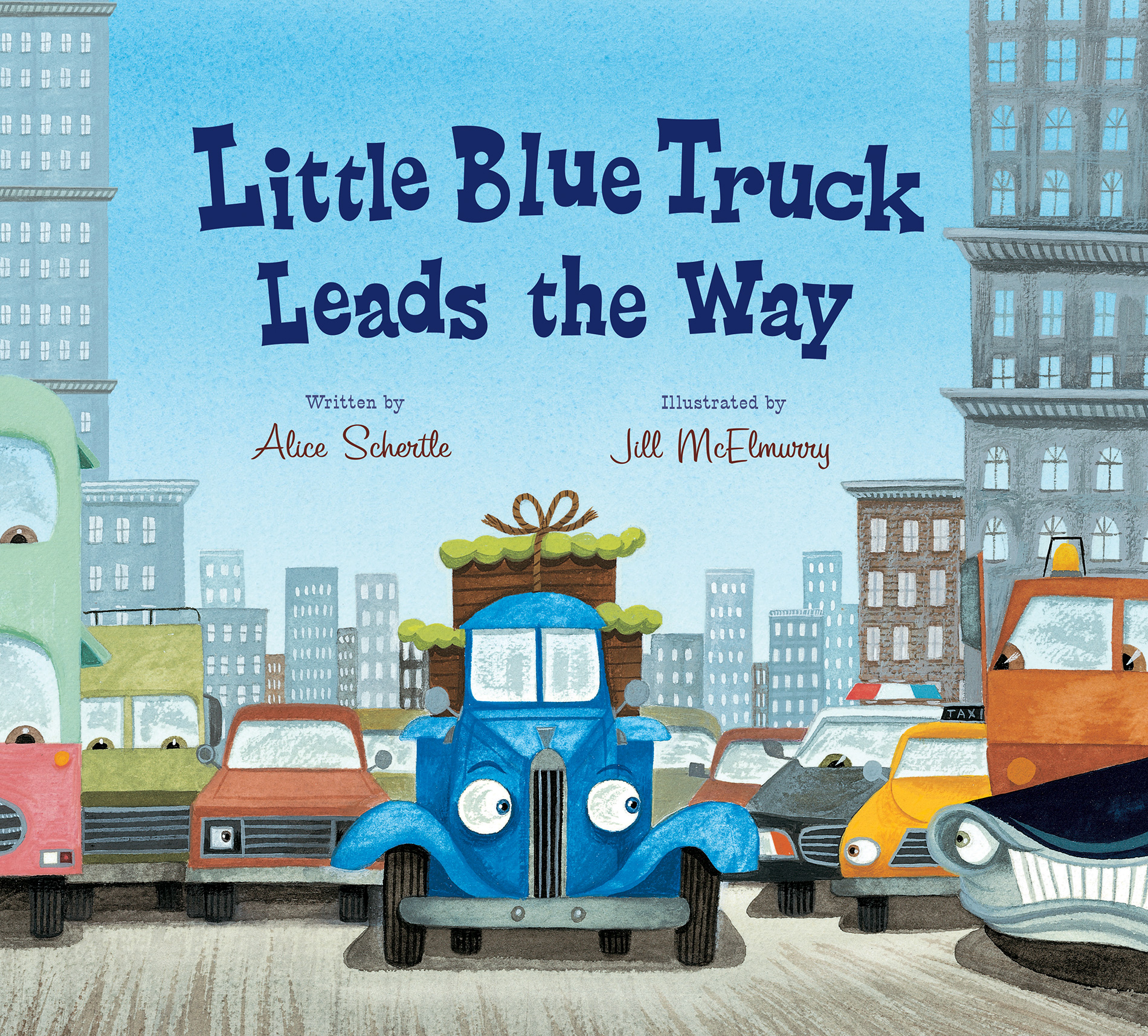 Little Blue Truck Leads the Way (lap board book)-9780544708990