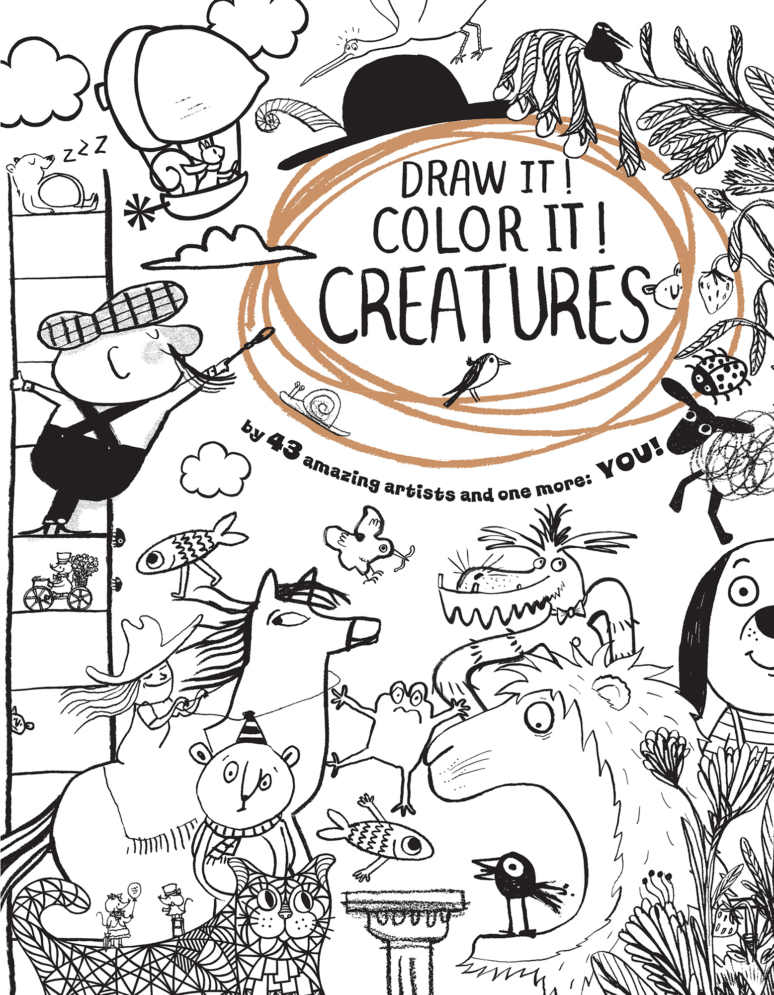 Draw It! Color It! Creatures-9780544779792