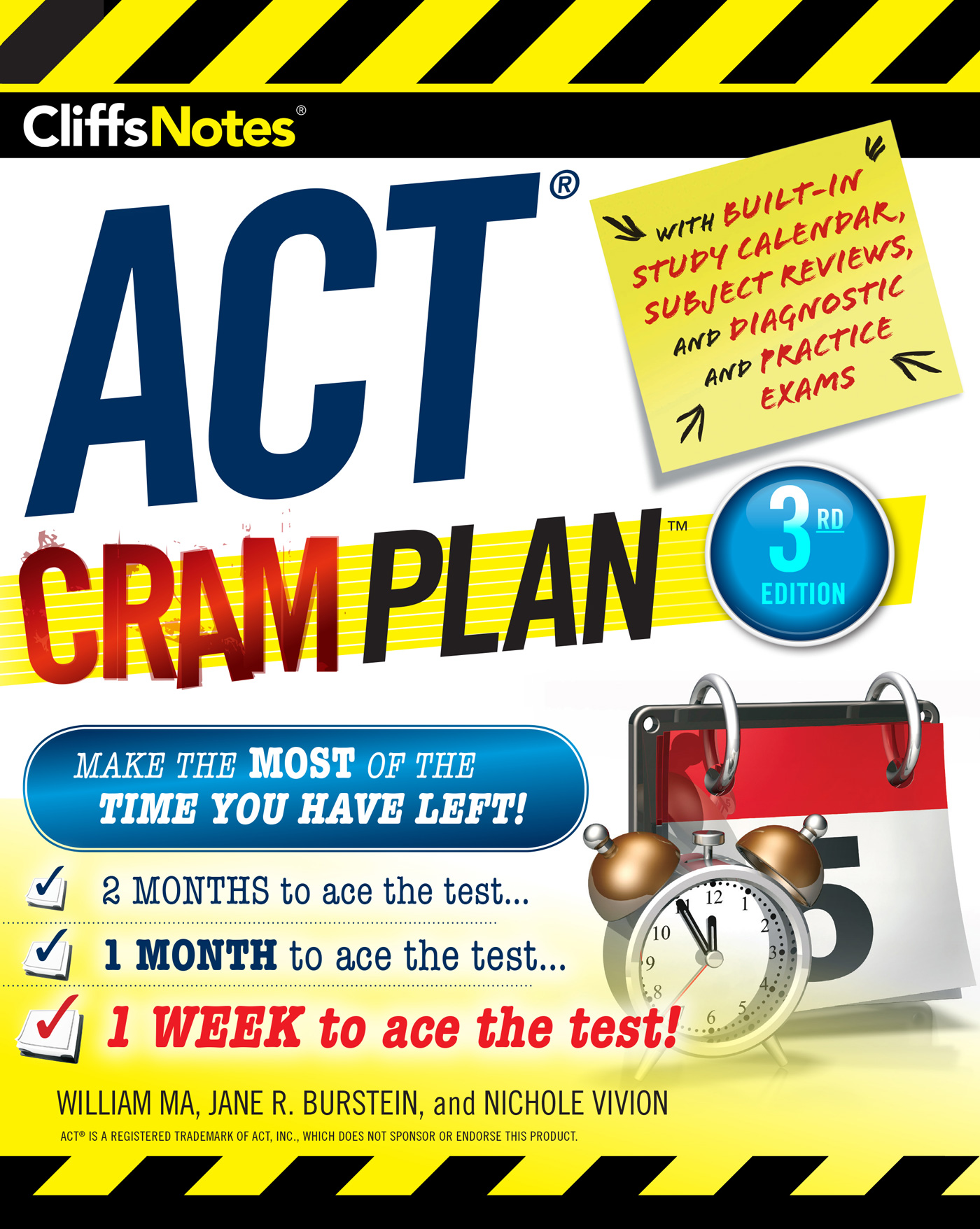 CliffsNotes ACT Cram Plan, 3rd Edition-9780544836600