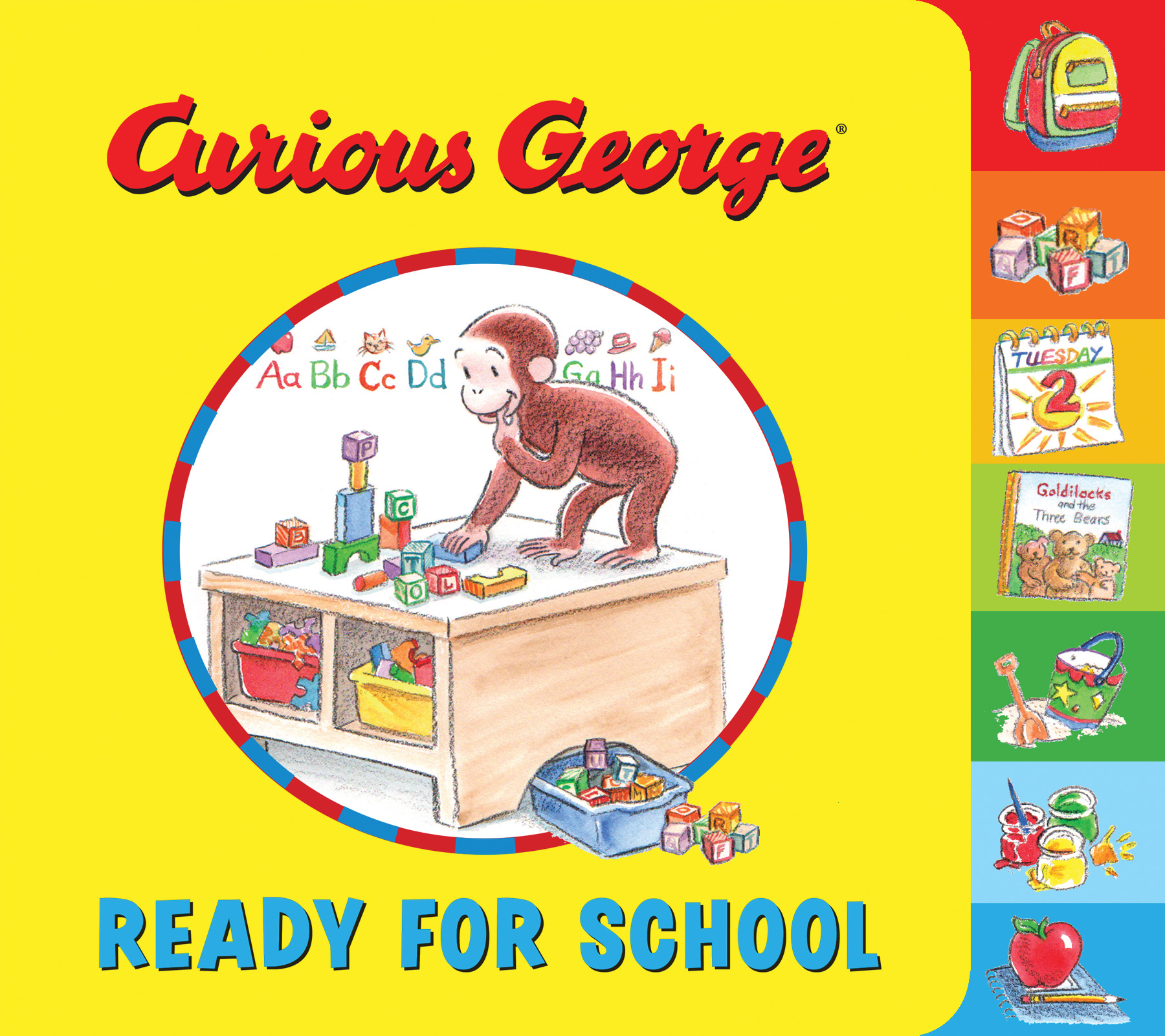 Curious George Ready for School (tabbed board book)-9780544931206