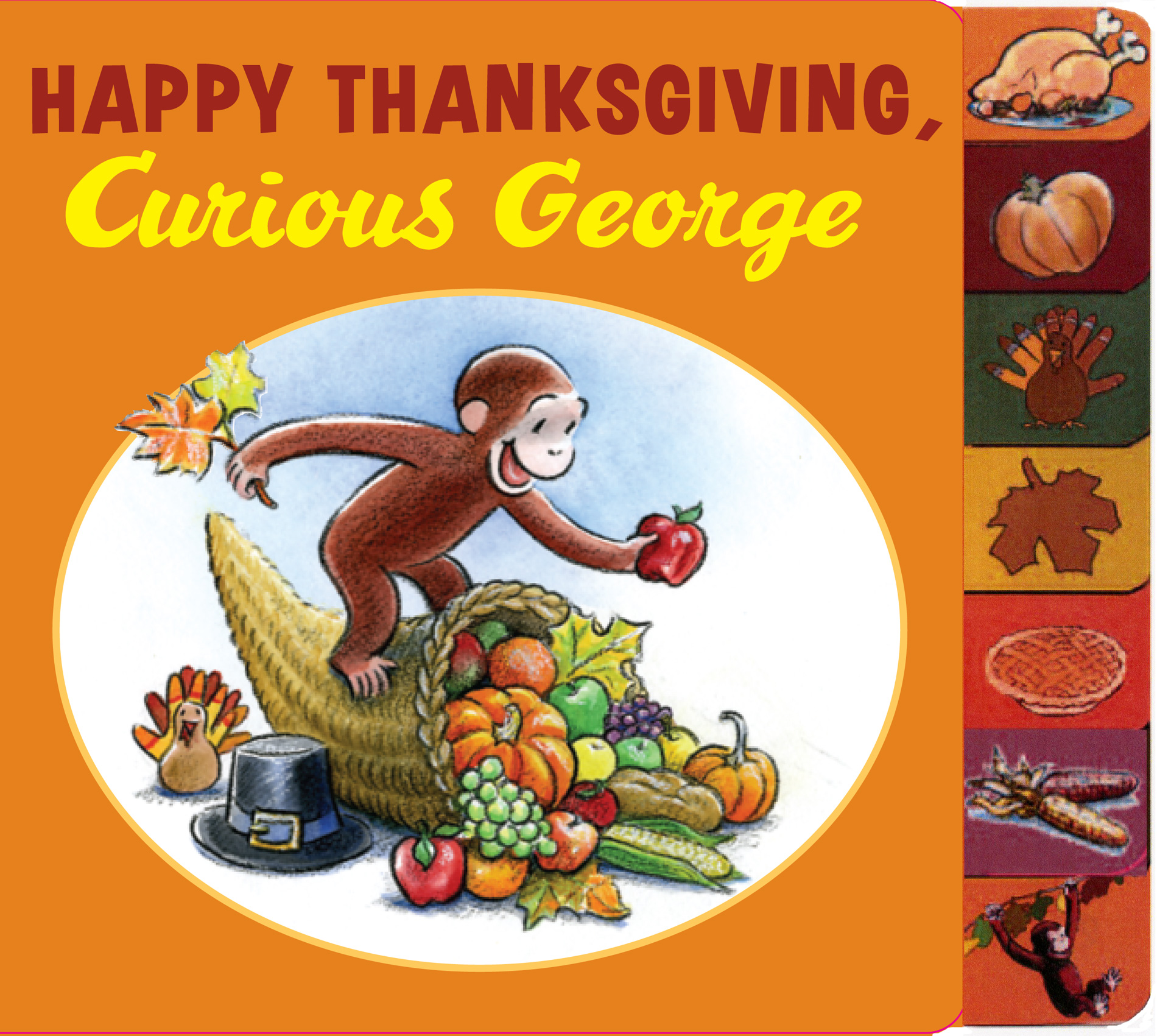Happy Thanksgiving, Curious George tabbed board book-9780547131061