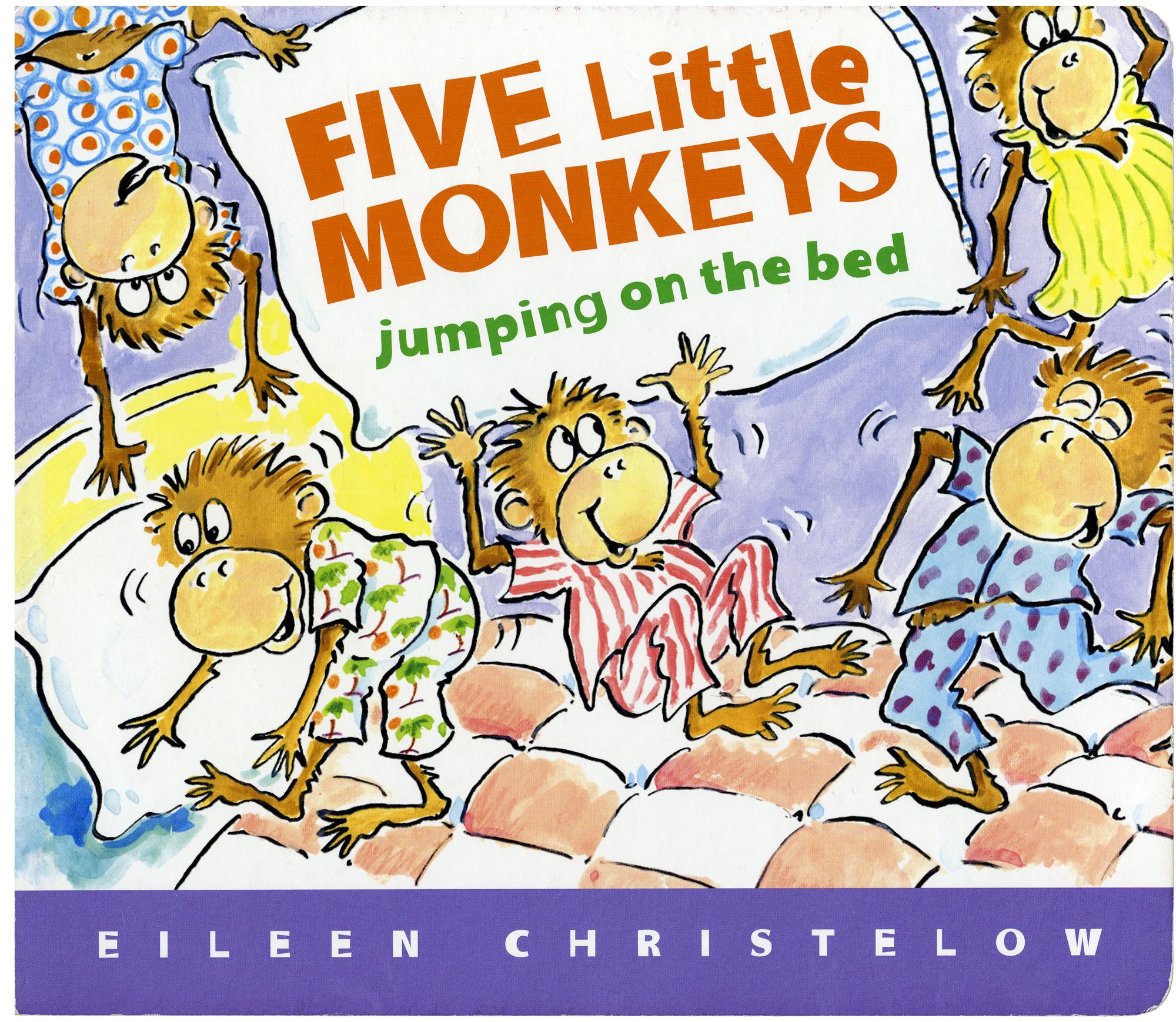 Five Little Monkeys Jumping on the Bed Lap Board Book-9780547131764