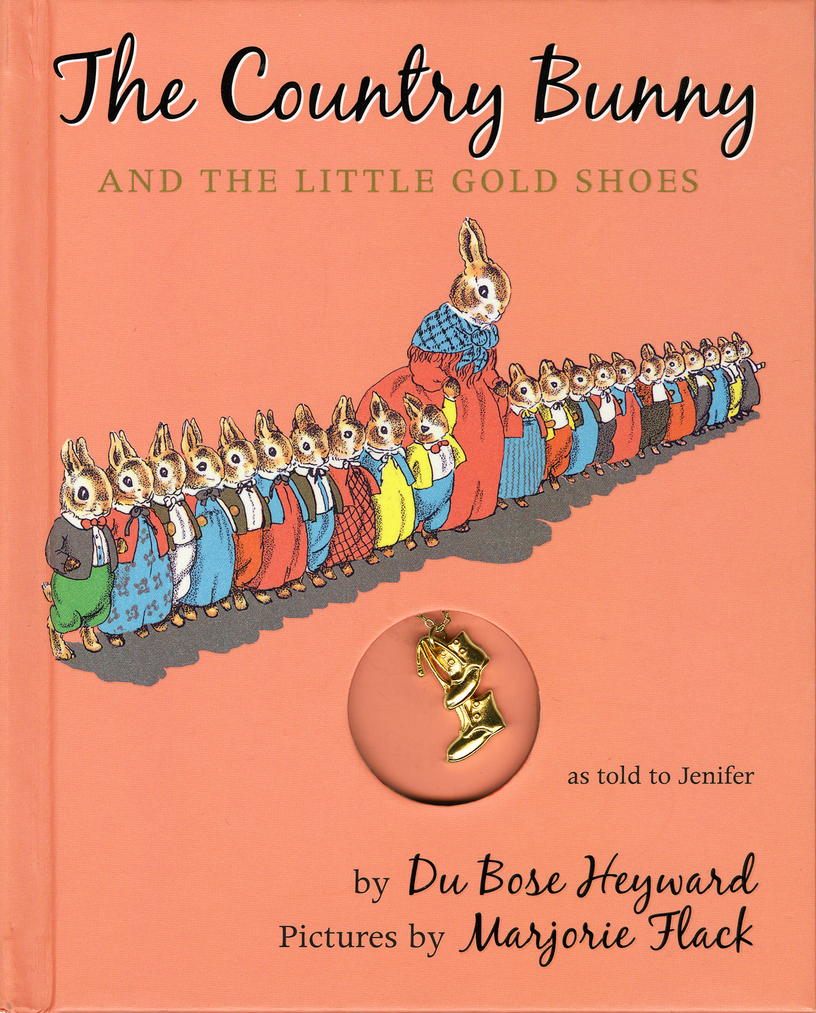 The Country Bunny and the Little Gold Shoes Gift Edition with Charm-9780547144184