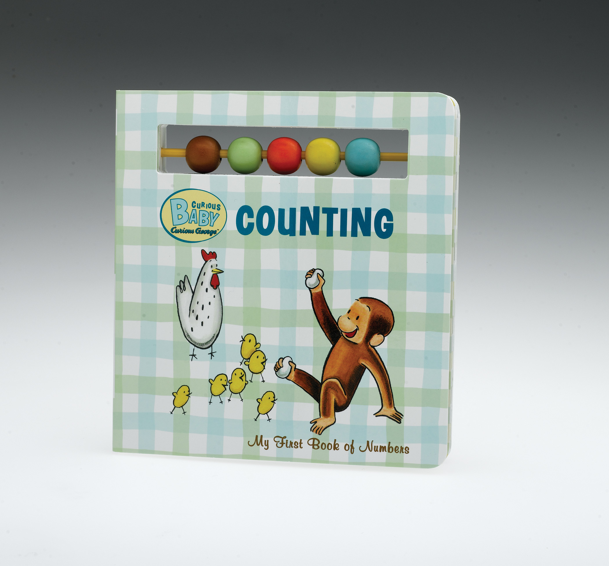 Curious Baby Counting (Curious George Board Book with Beads)-9780547215211