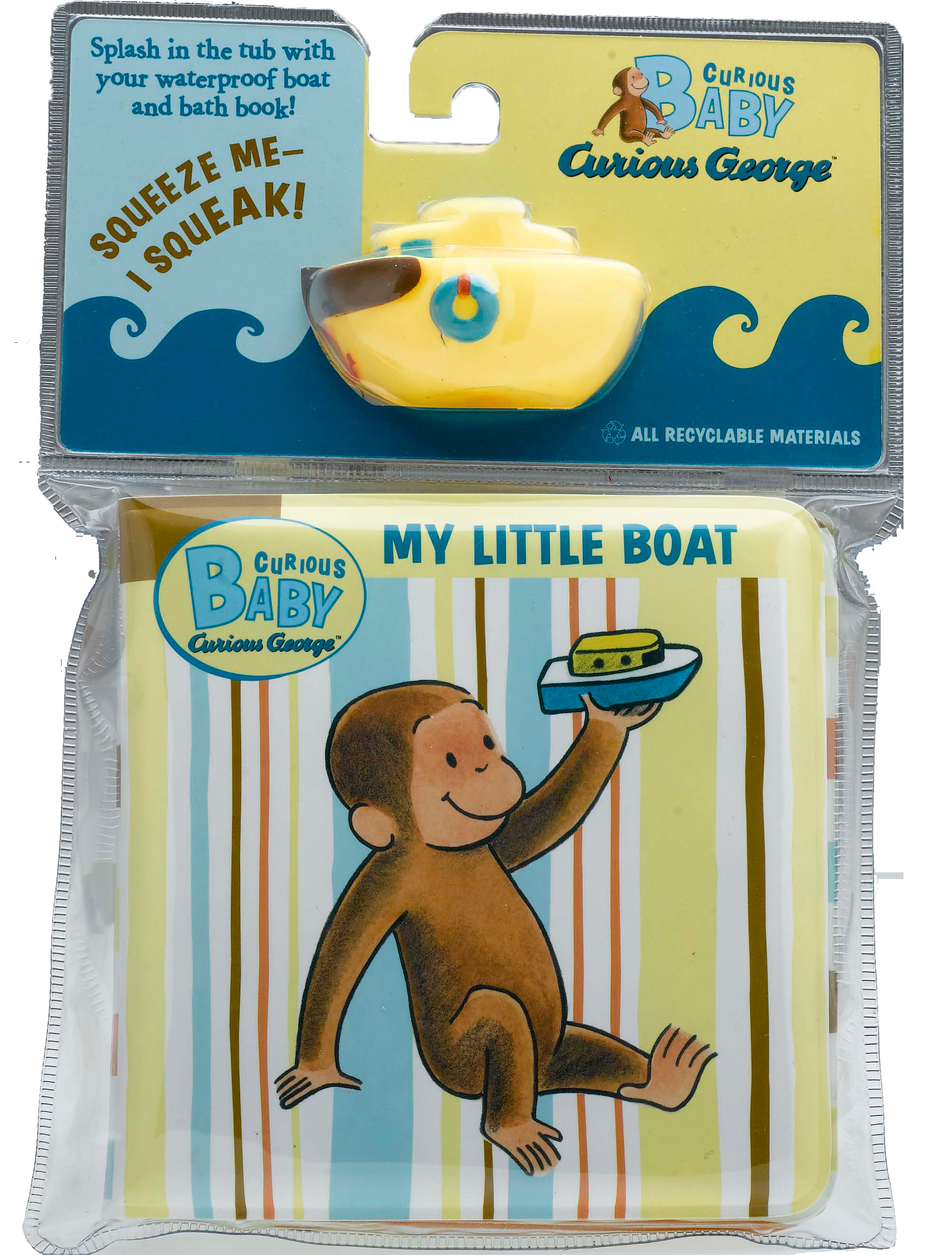 Curious Baby My Little Boat (Curious George Bath Book & Toy Boat)-9780547215419