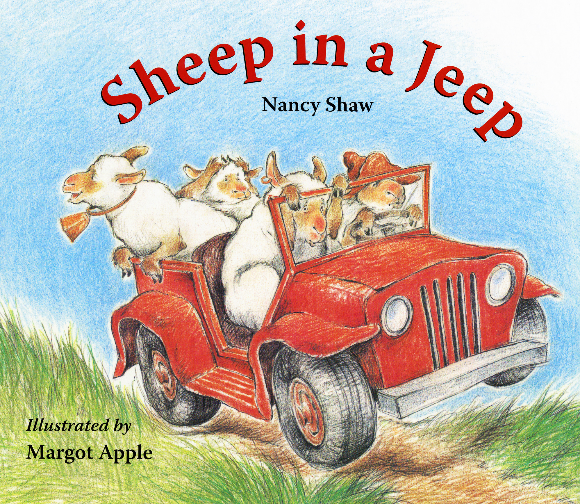 Sheep in a Jeep Lap-Sized Board Book-9780547237756