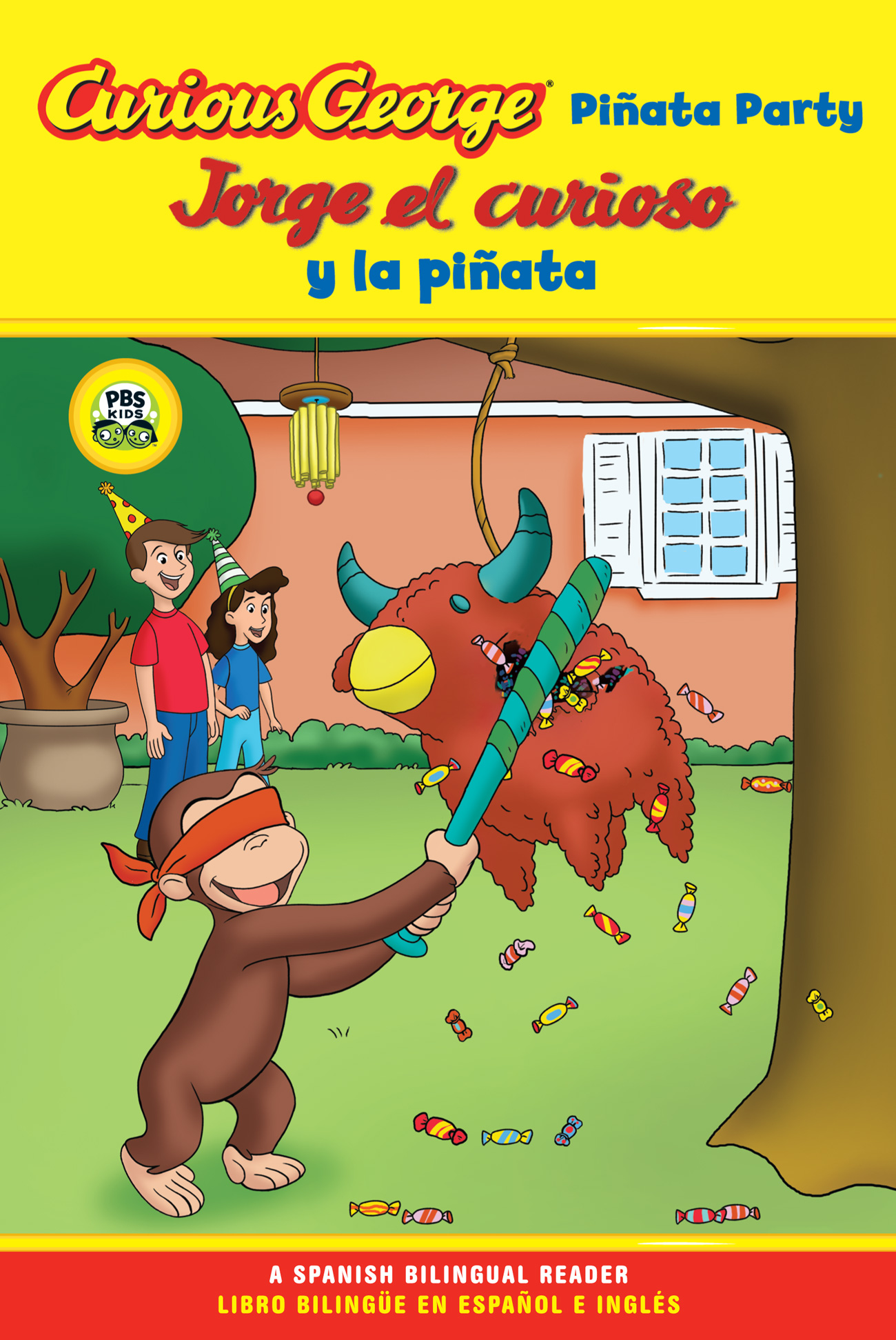 Jorge el curioso y la pinata / Curious George Pinata Party Spanish/English Bilingual Edition (CGTV Reader)-9780547238302