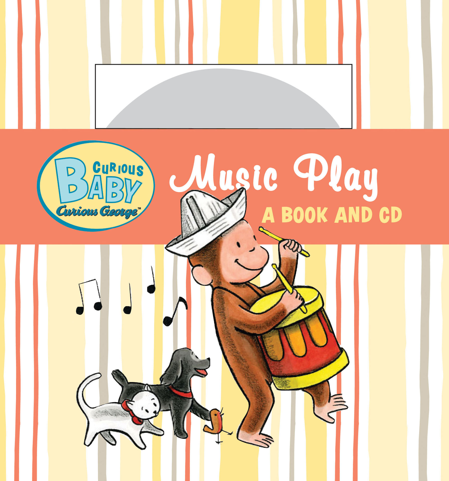 Curious Baby Music Play (Curious George Board Book & CD)-9780547238760