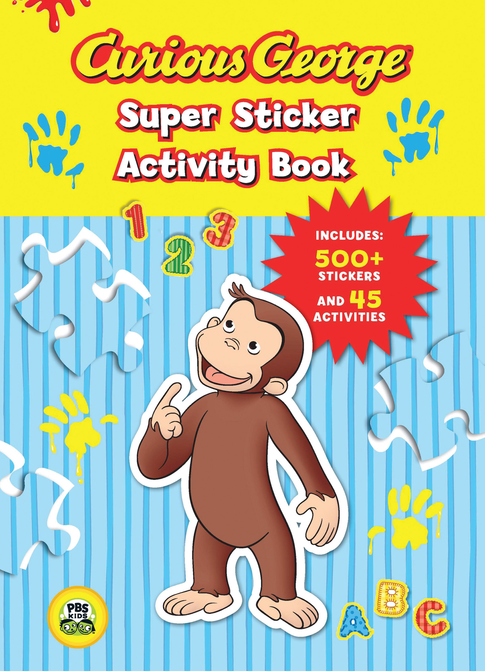 Curious George Super Sticker Activity Book (CGTV)-9780547238968