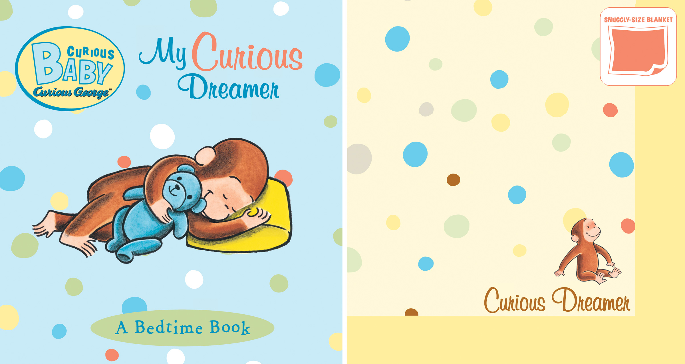 Curious Baby My Curious Dreamer Gift Set (Curious George Book & Blankie)-9780547243085
