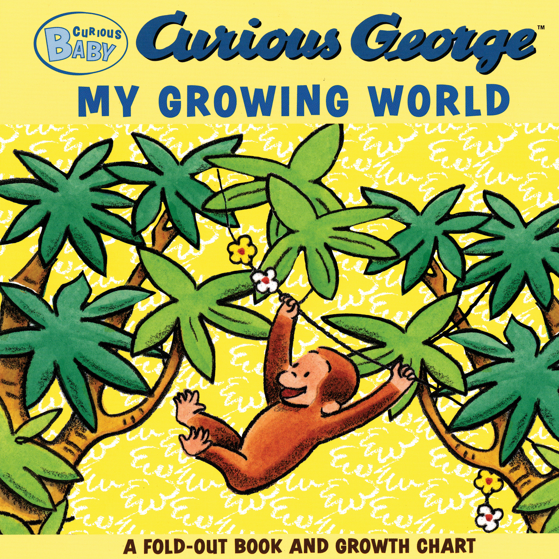 Curious Baby My Growing World (Curious George Fold-Out Board Book and Growth Chart)-9780547279398