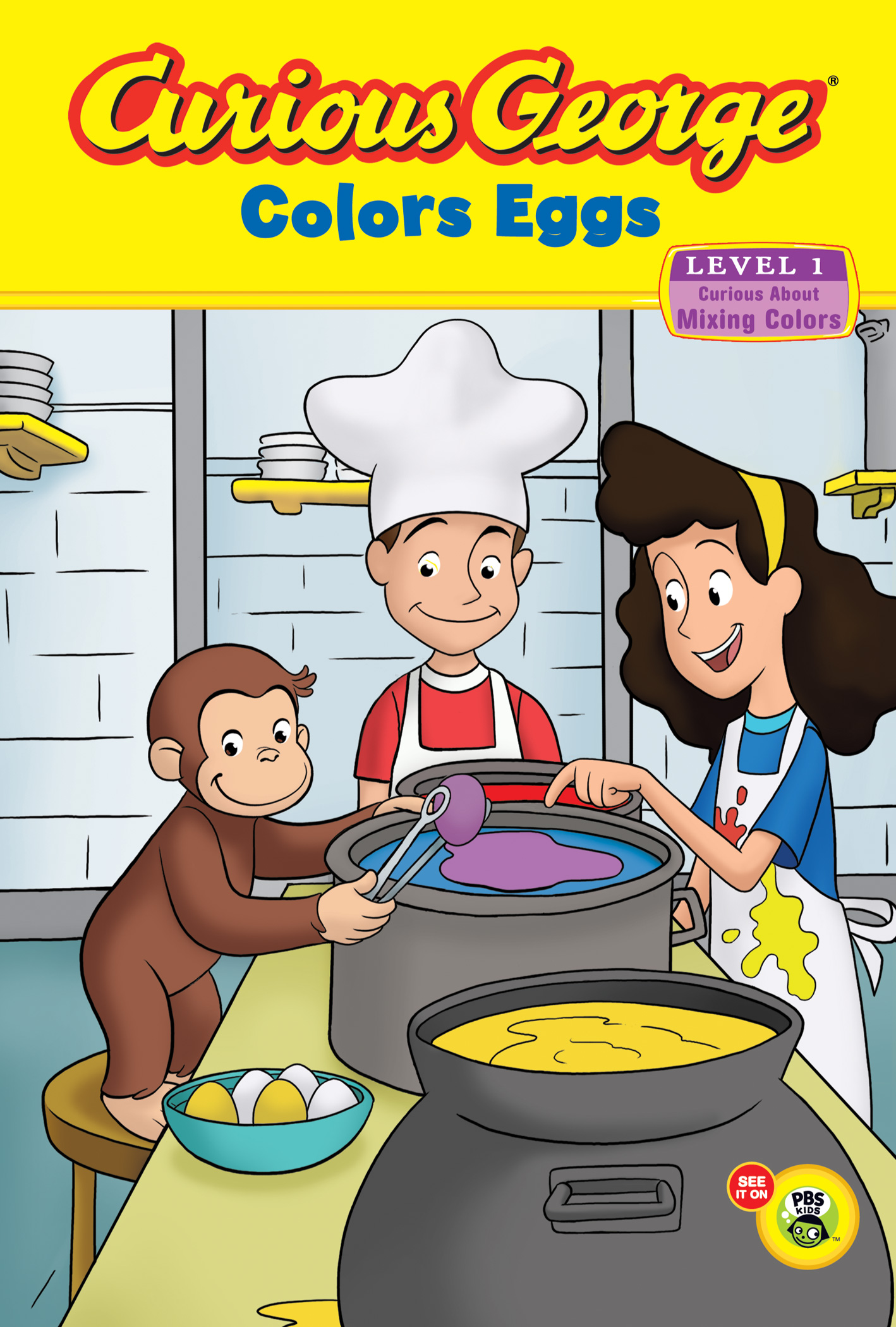 Curious George Colors Eggs Early Reader-9780547315850