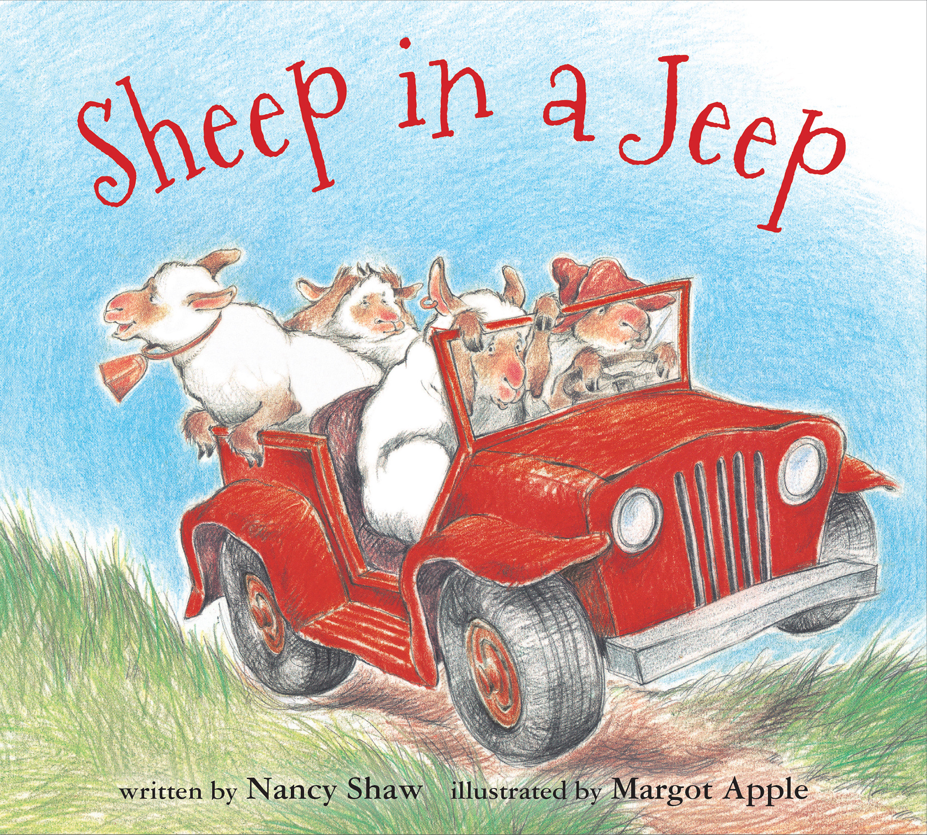 Sheep in a Jeep (board book)-9780547338057