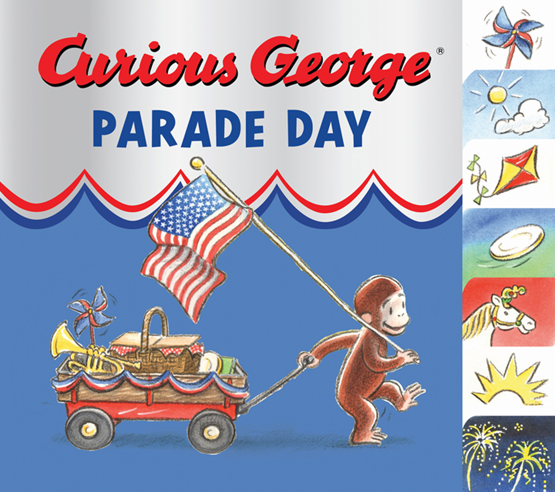 Curious George Parade Day tabbed board book-9780547472829