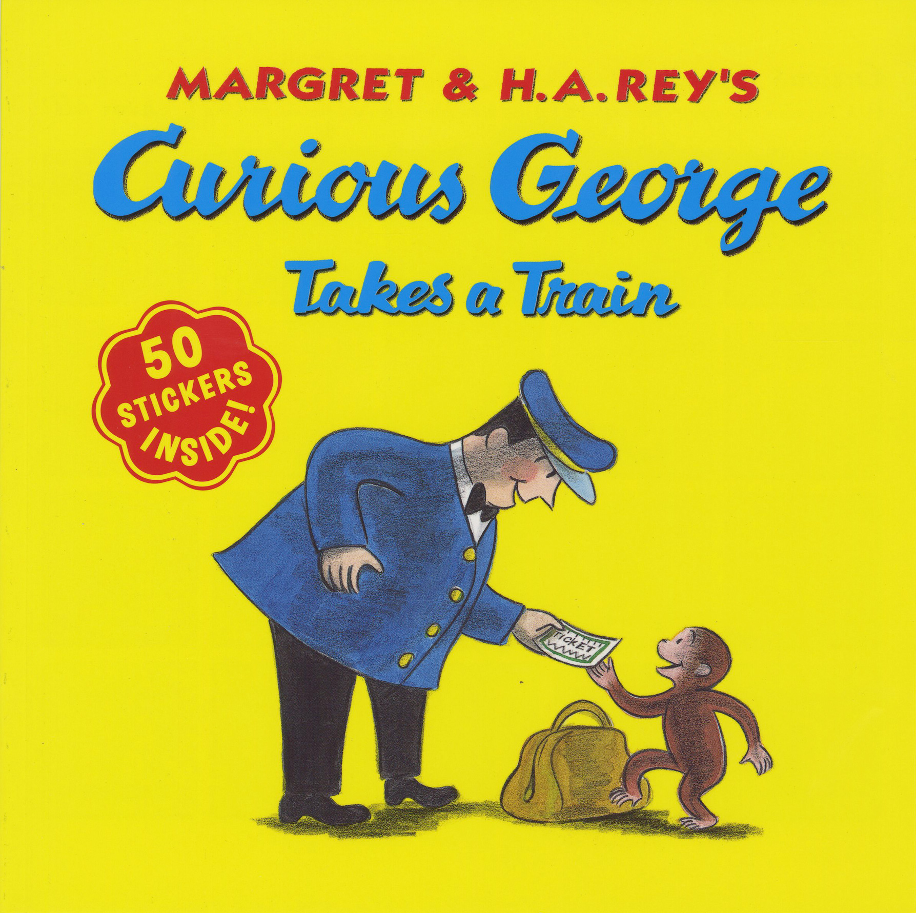 Curious George Takes a Train  with stickers-9780547504247