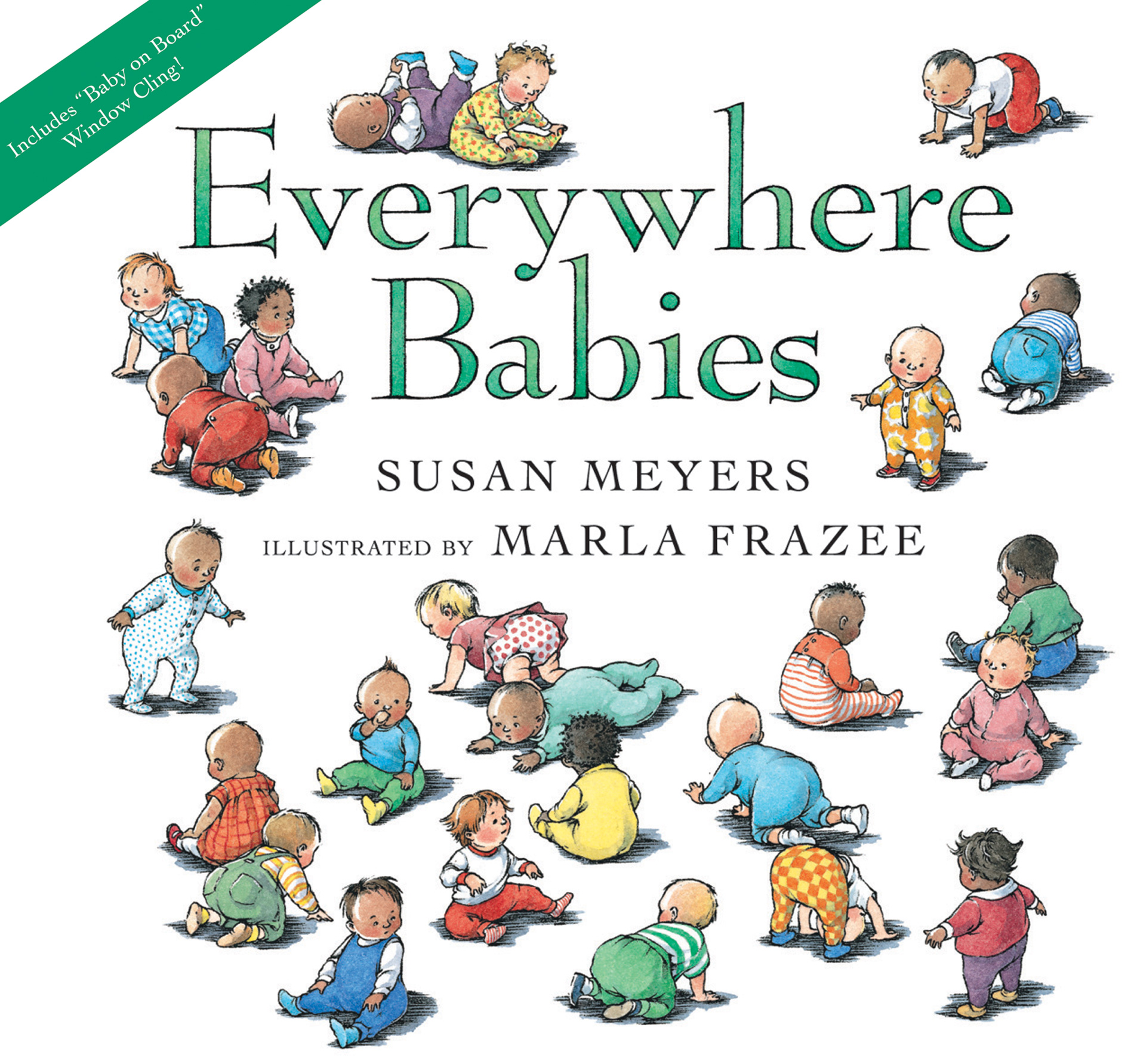 Everywhere Babies lap board book (with window cling)-9780547510743
