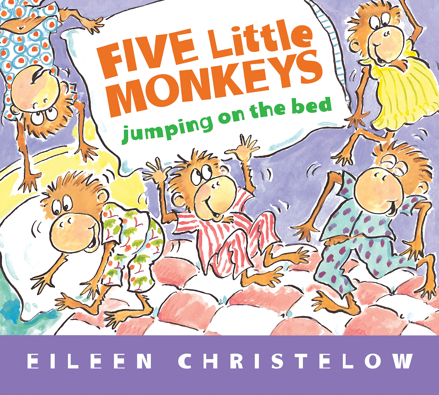 Five Little Monkeys Jumping on the Bed (Padded Board Book)-9780547510750