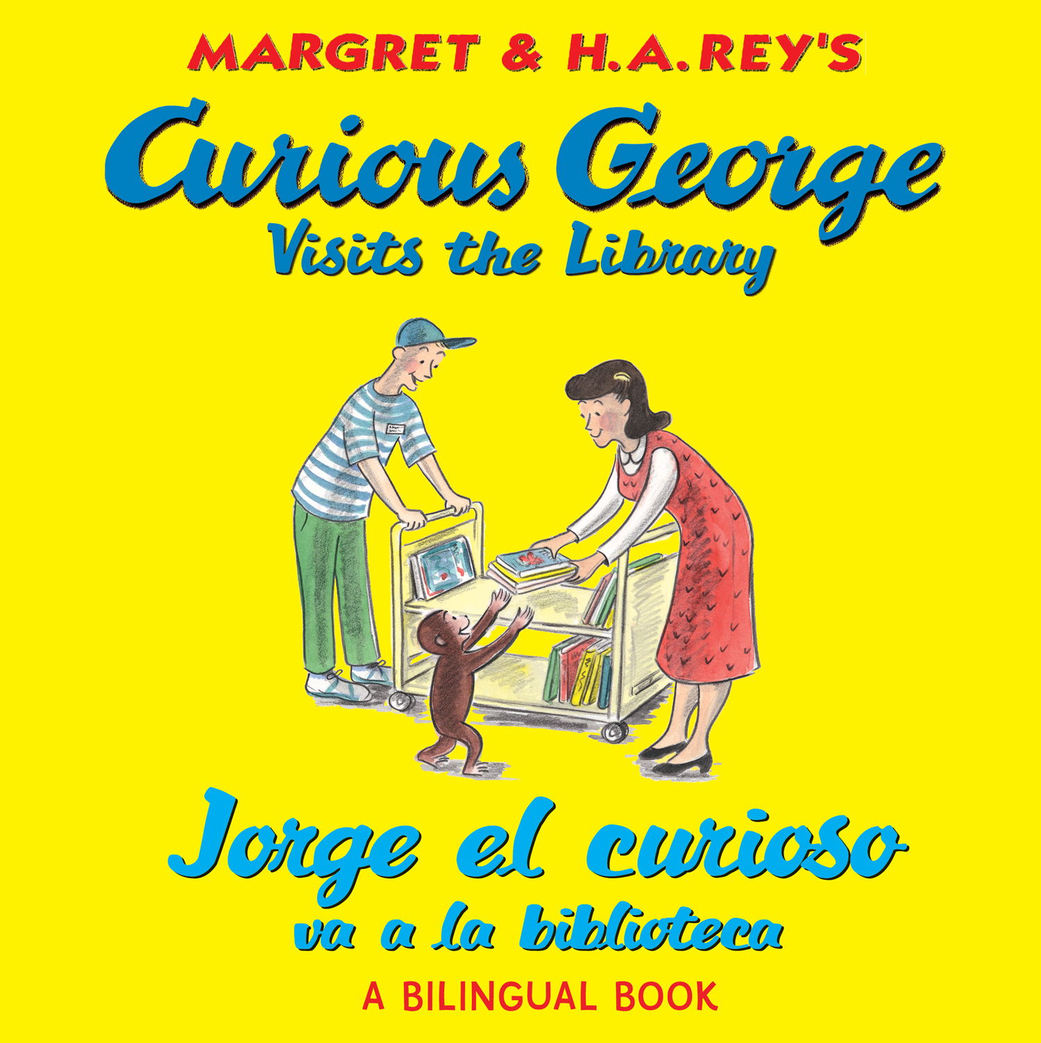 Jorge el curioso va a la biblioteca/Curious George Visits the Library (bilingual edition)-9780547550756