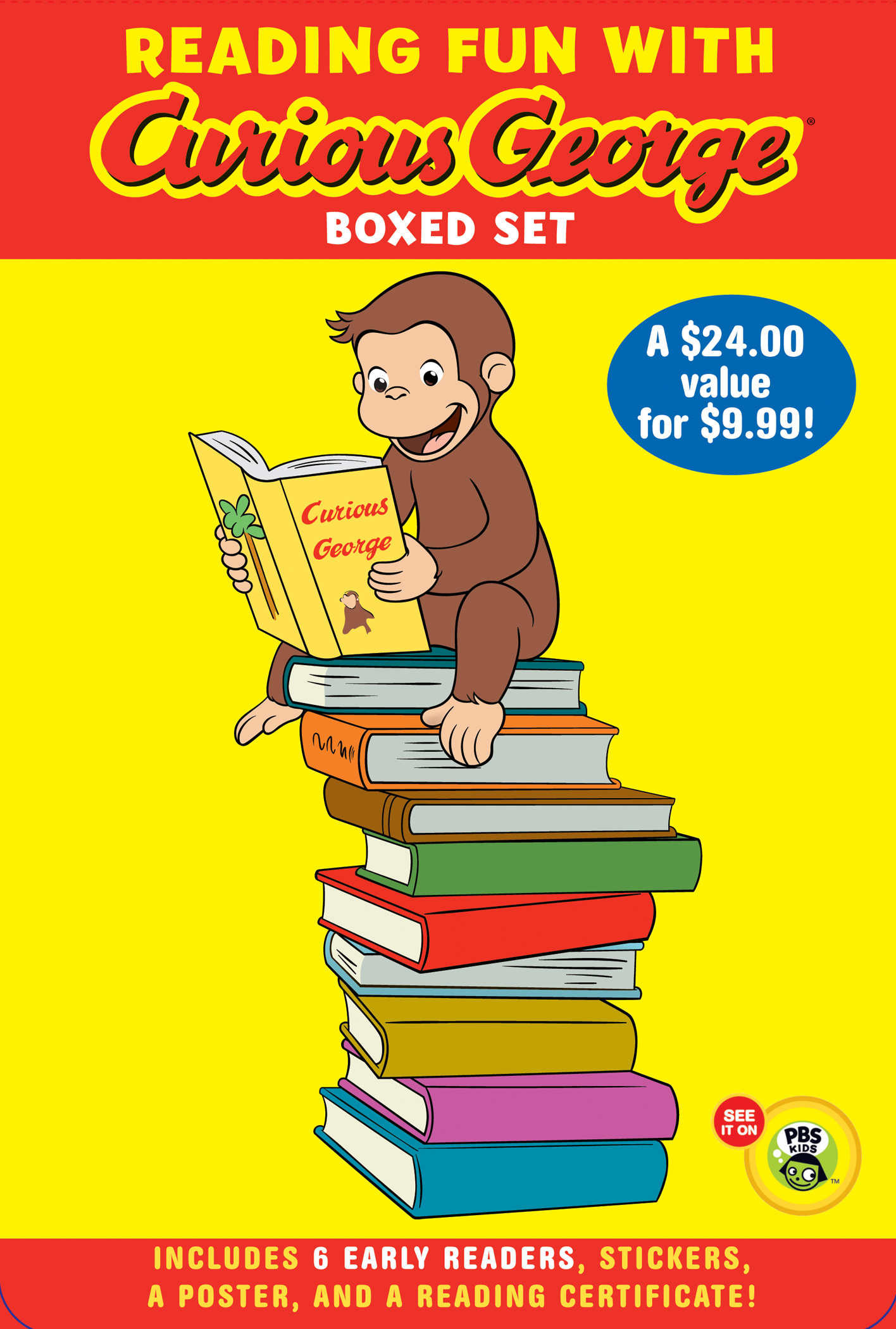 Reading Fun with Curious George Boxed Set (CGTV reader boxed set)-9780547577227